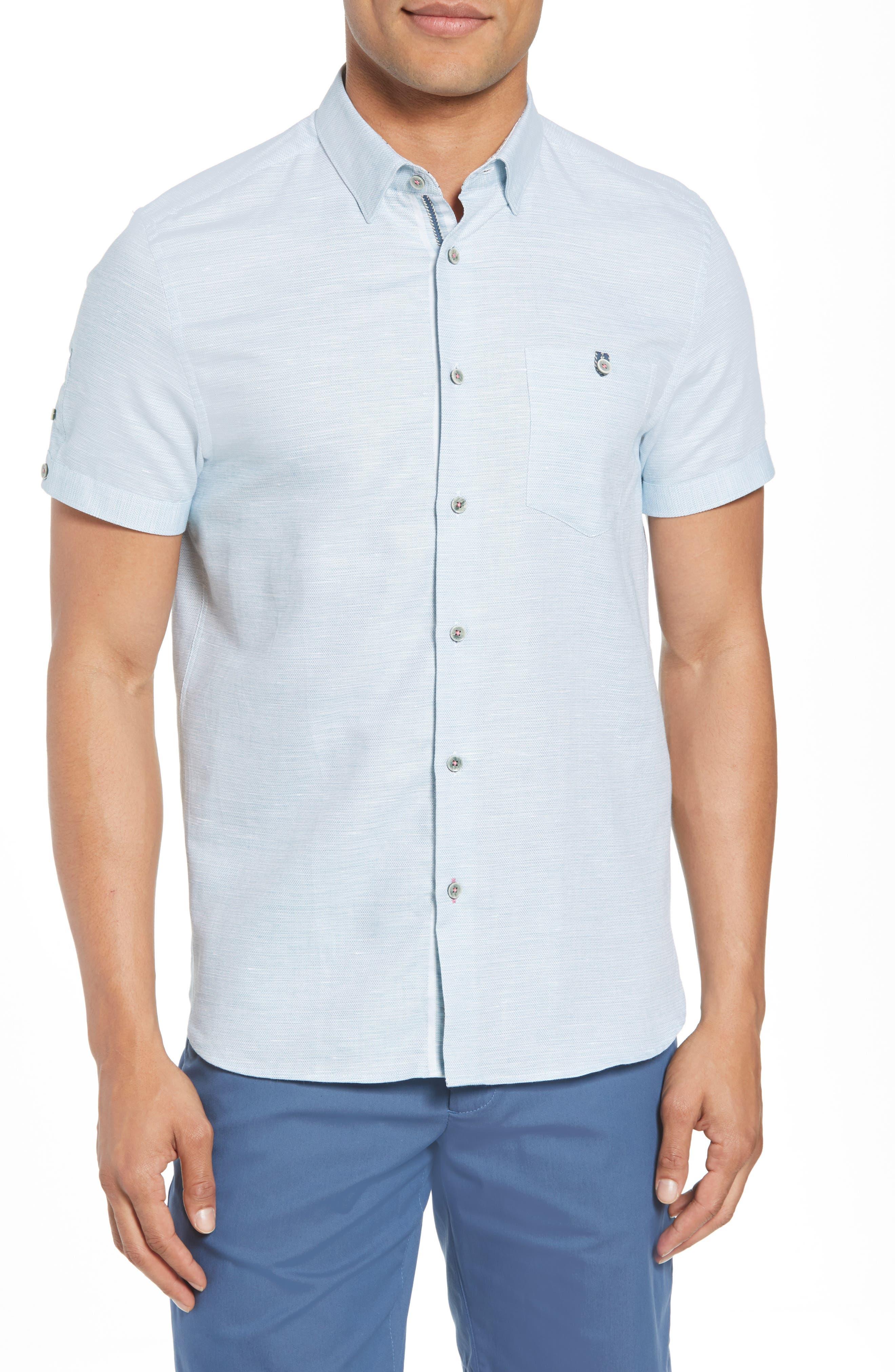 Slim Fit Sport Shirt,                             Main thumbnail 3, color,