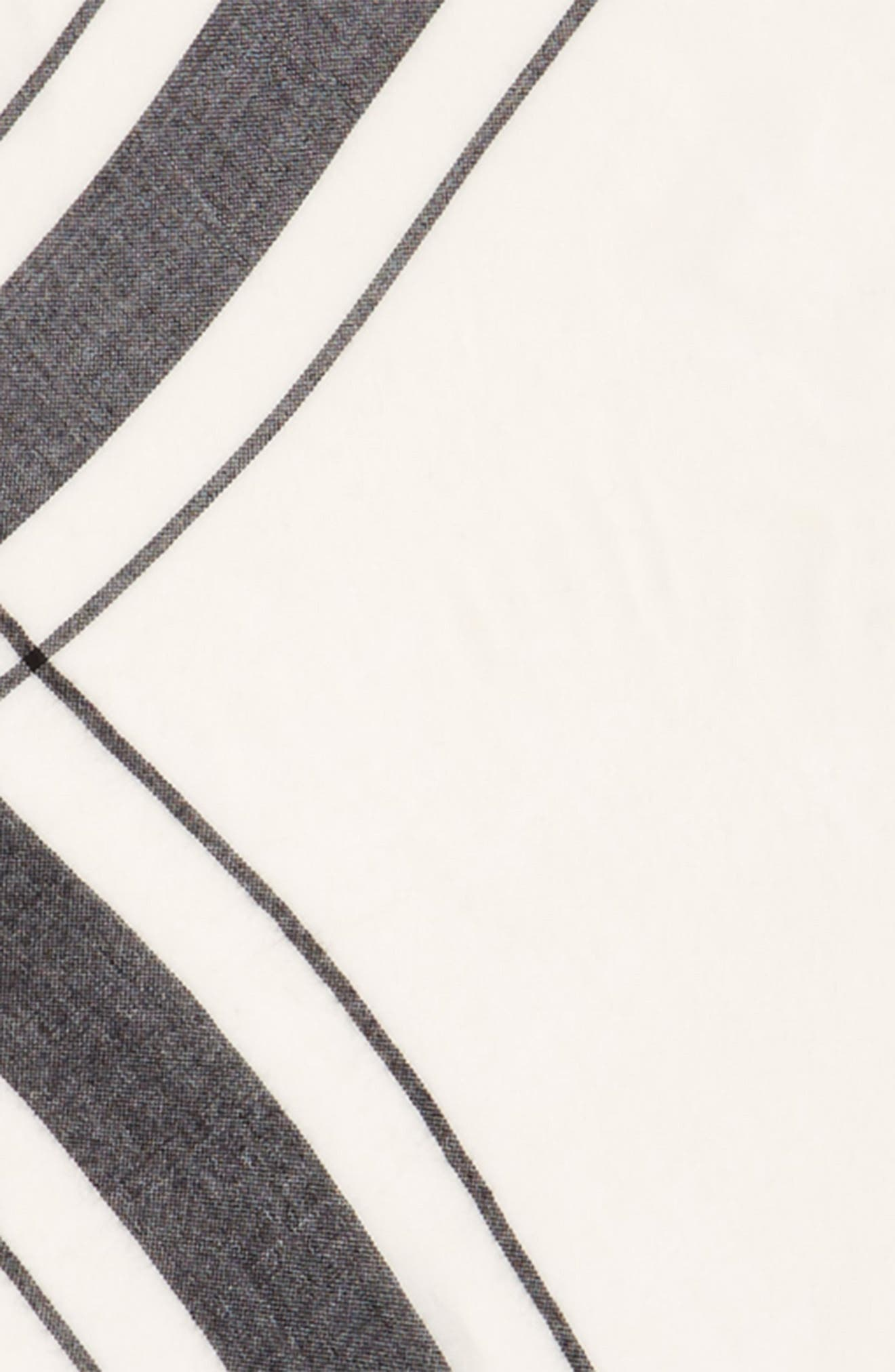 Stripe Edge Triangle Scarf,                             Alternate thumbnail 3, color,                             900