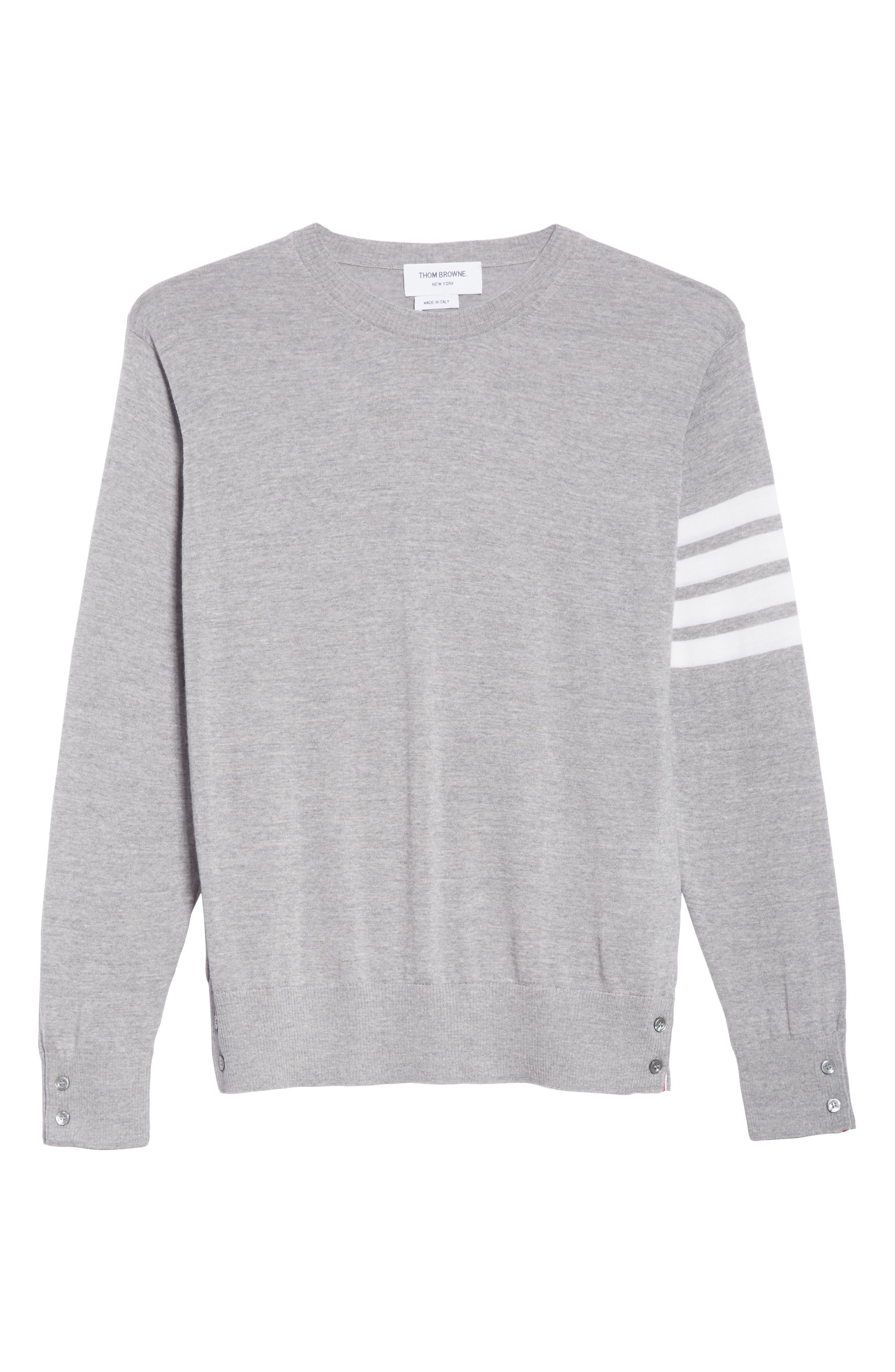 Merino Wool Pullover,                             Alternate thumbnail 6, color,                             LIGHT GREY