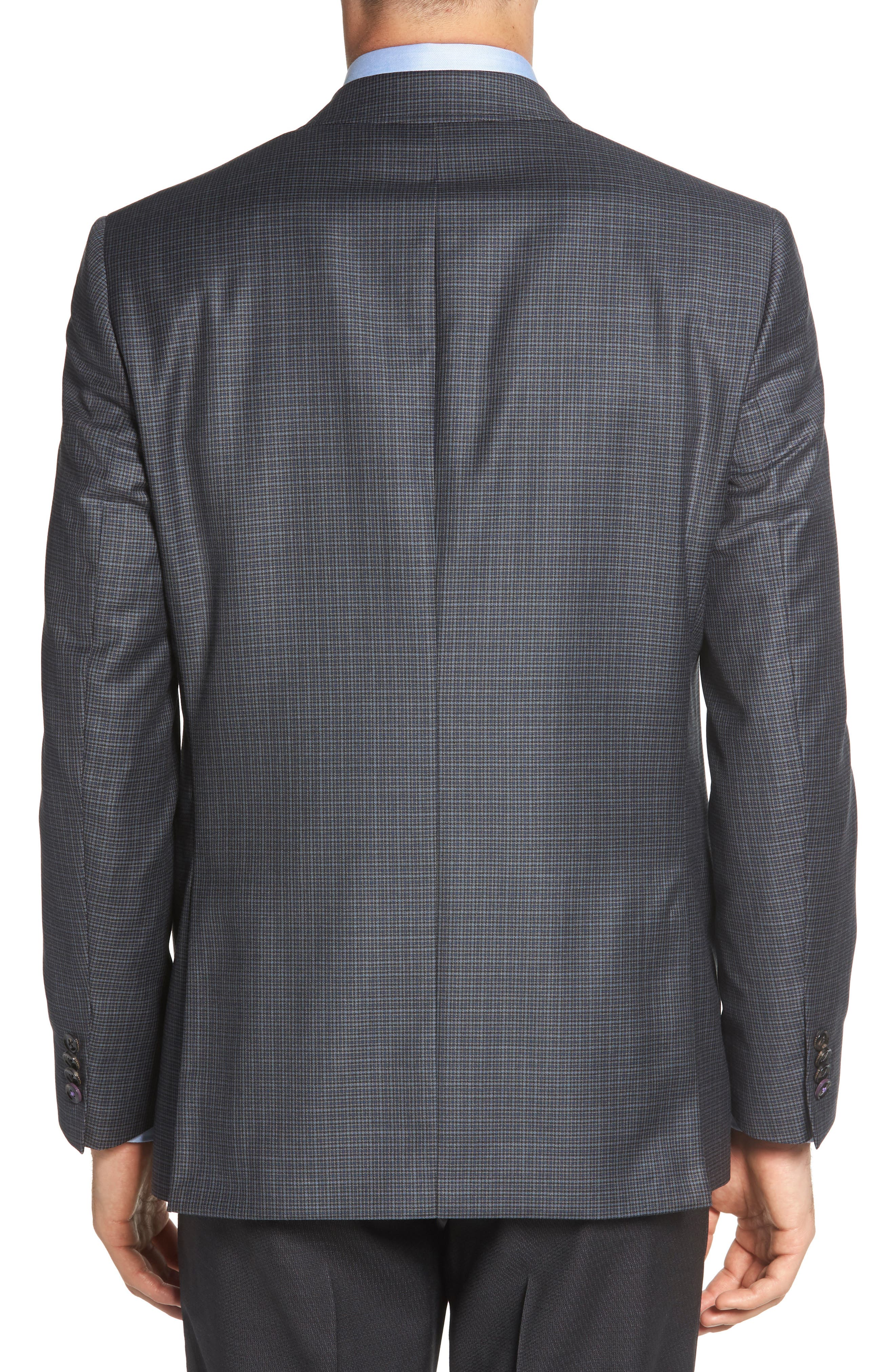 TED BAKER LONDON,                             Jed Trim Fit Microcheck Wool Sport Coat,                             Alternate thumbnail 2, color,                             020