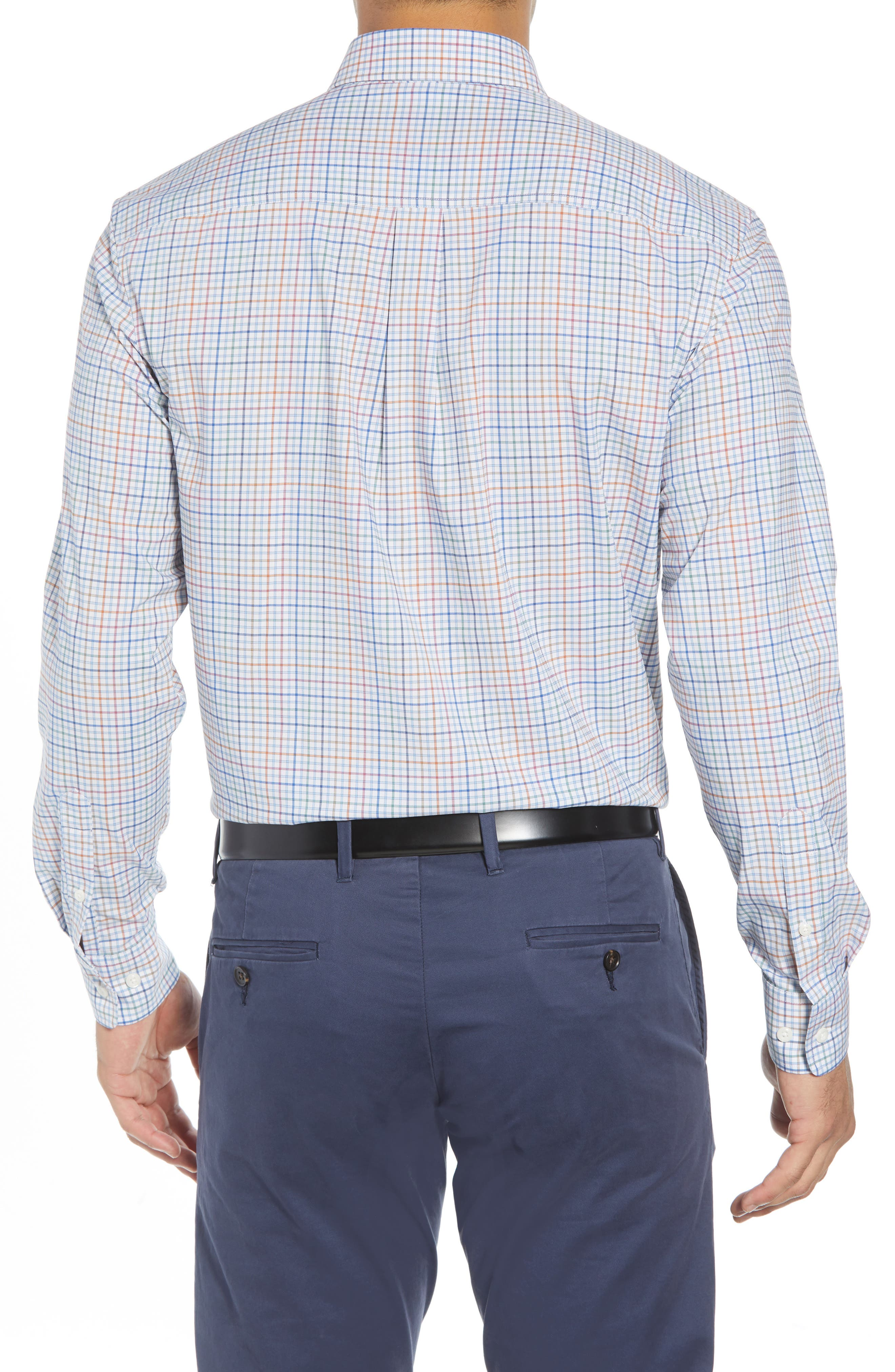 Chester Classic Fit Sport Shirt,                             Alternate thumbnail 3, color,                             GULF BLUE
