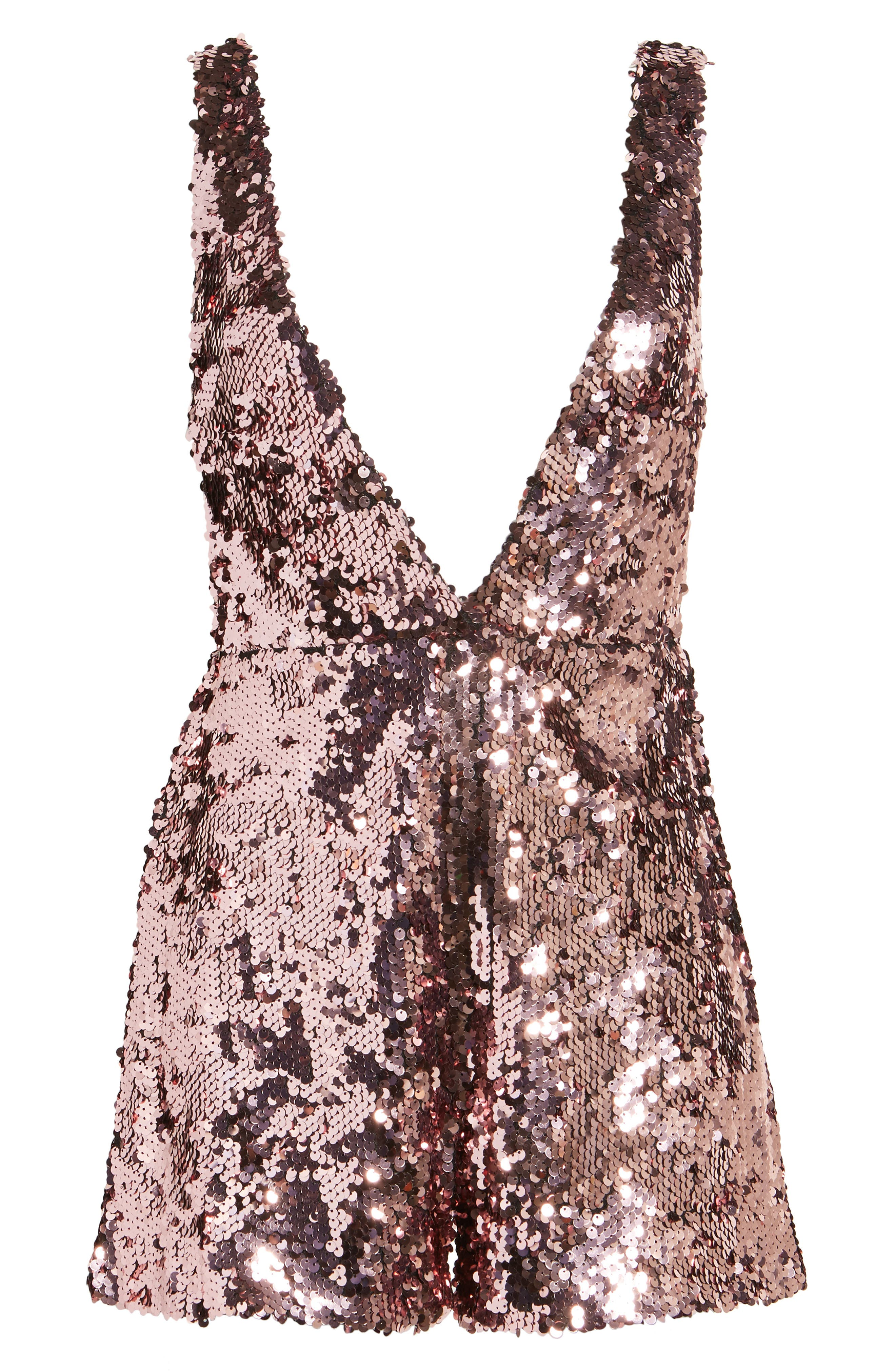 LOST INK,                             Sequin Romper,                             Alternate thumbnail 6, color,                             650