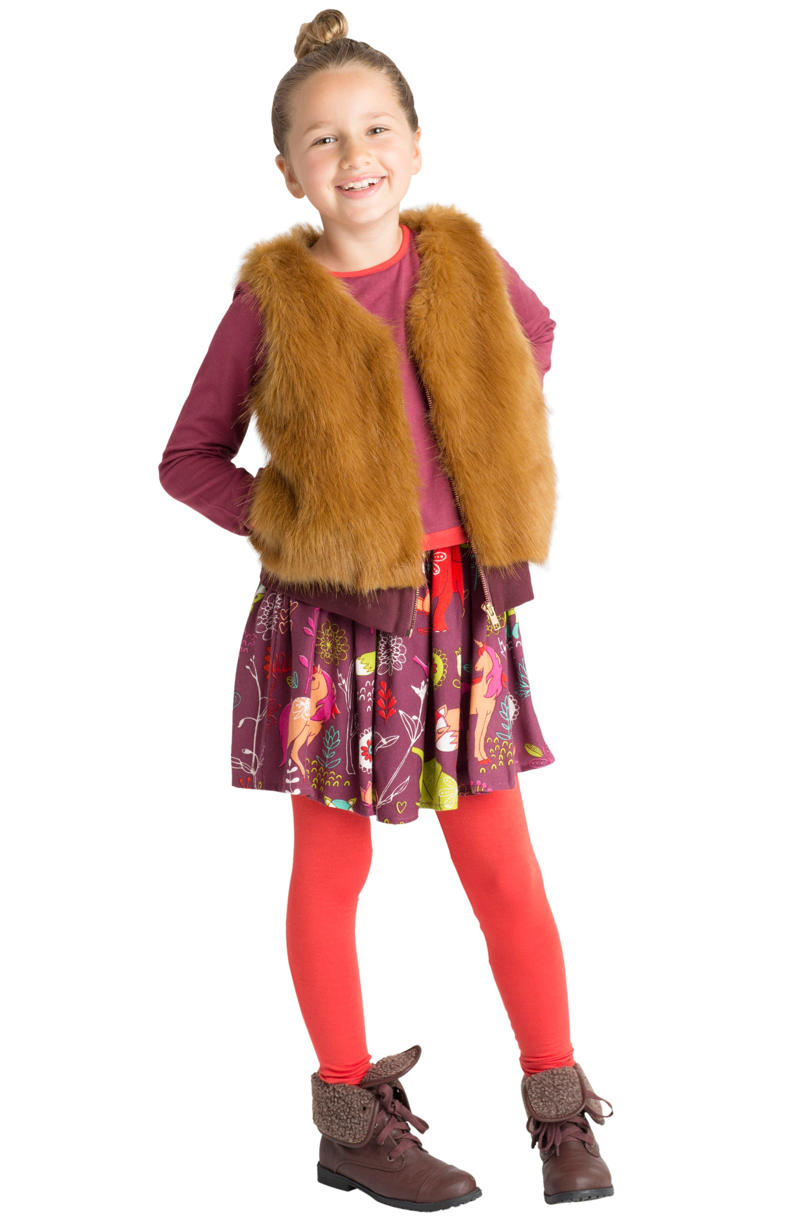 Faux Fur Vest,                             Main thumbnail 1, color,                             252