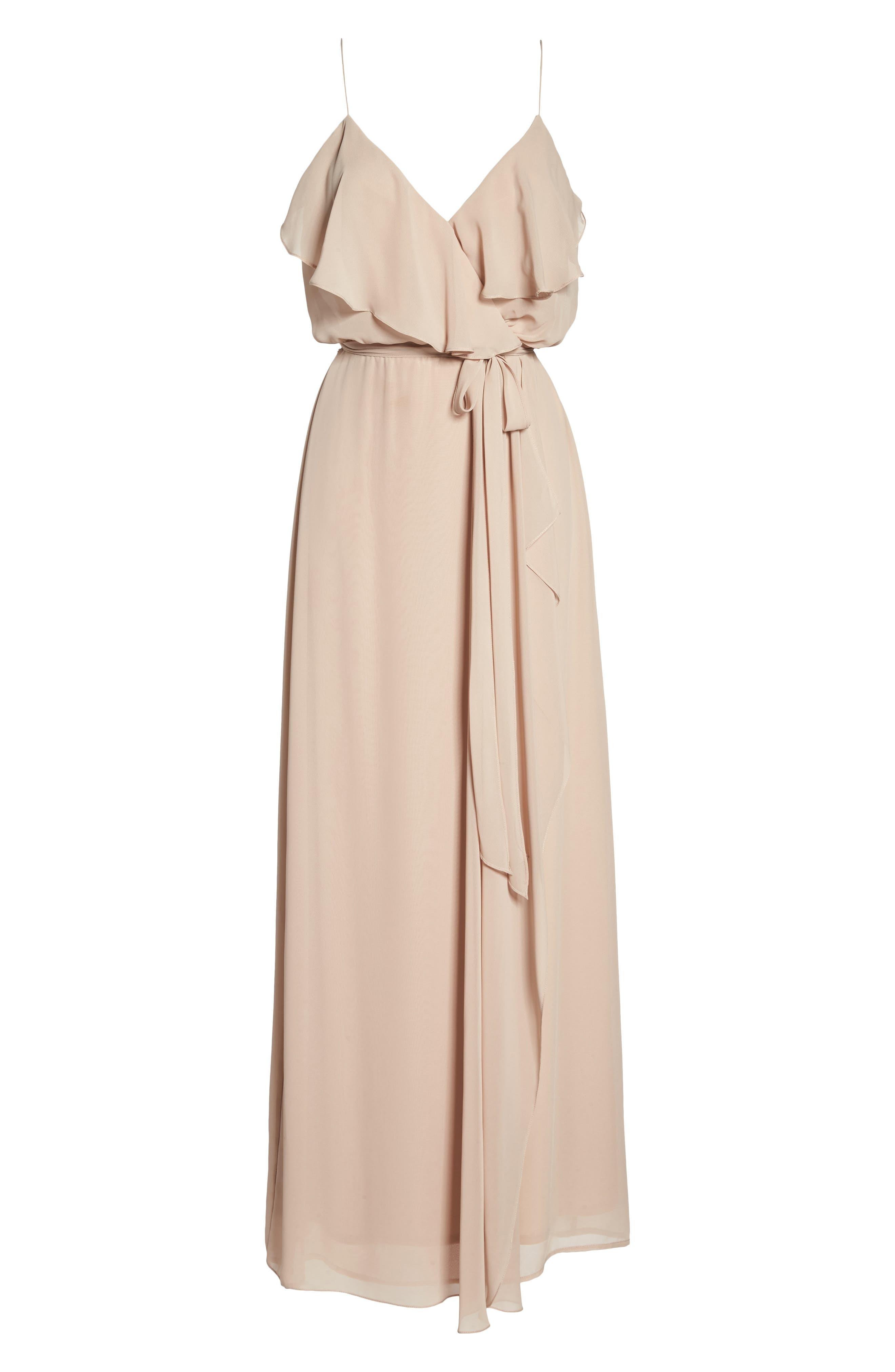 'Drew' Ruffle Front Chiffon Gown,                             Alternate thumbnail 61, color,