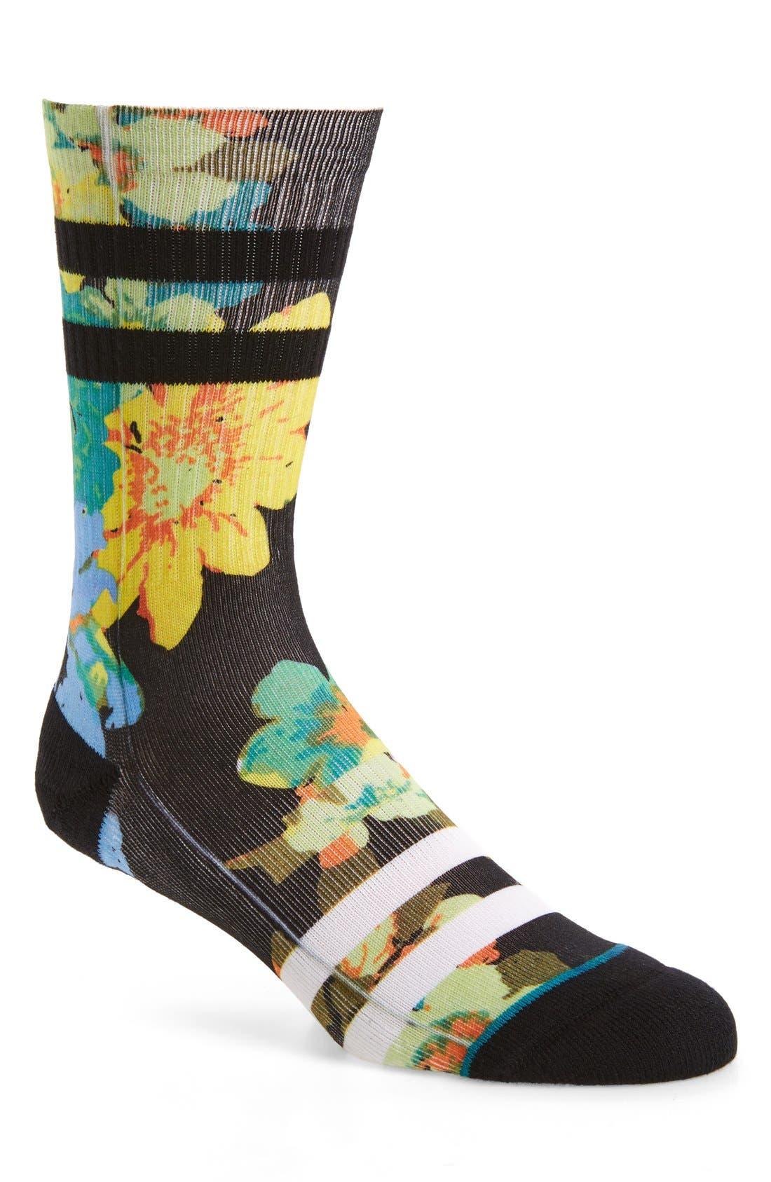 Corsage Classic Crew Socks,                         Main,                         color, 001
