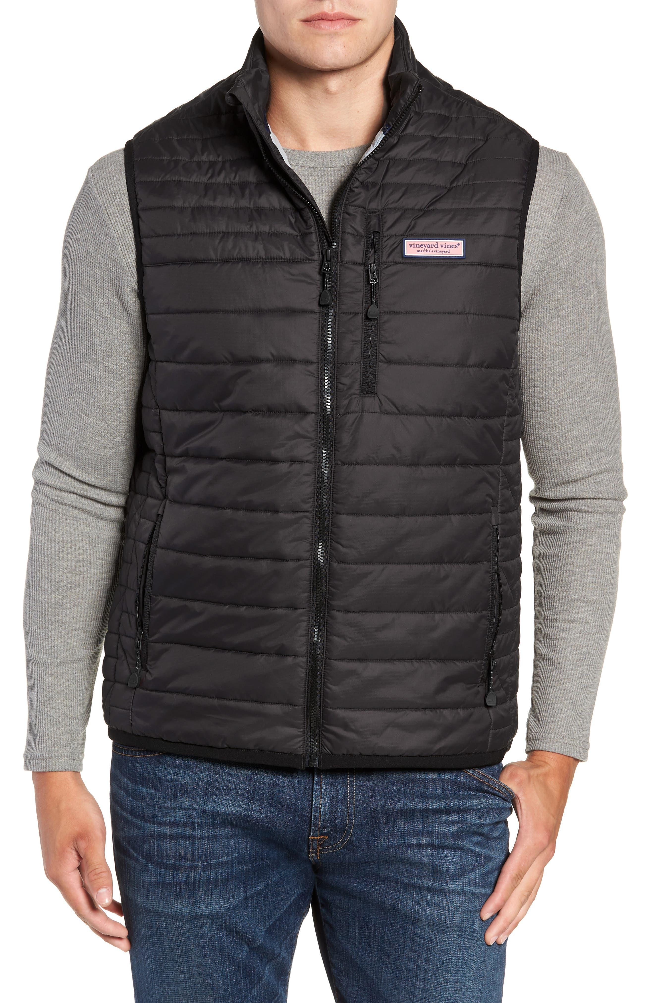 VINEYARD VINES Regular Fit Down Mountain Vest, Main, color, 002