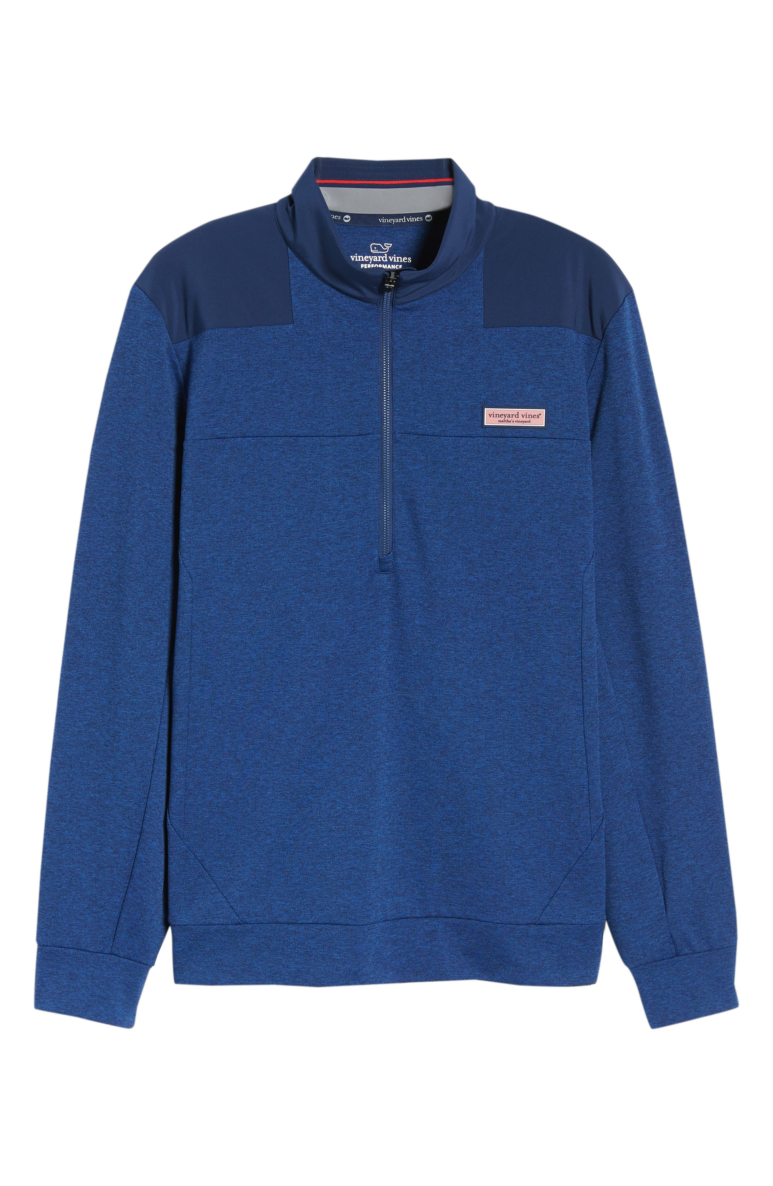 Performance Quarter Zip Pullover,                             Alternate thumbnail 18, color,