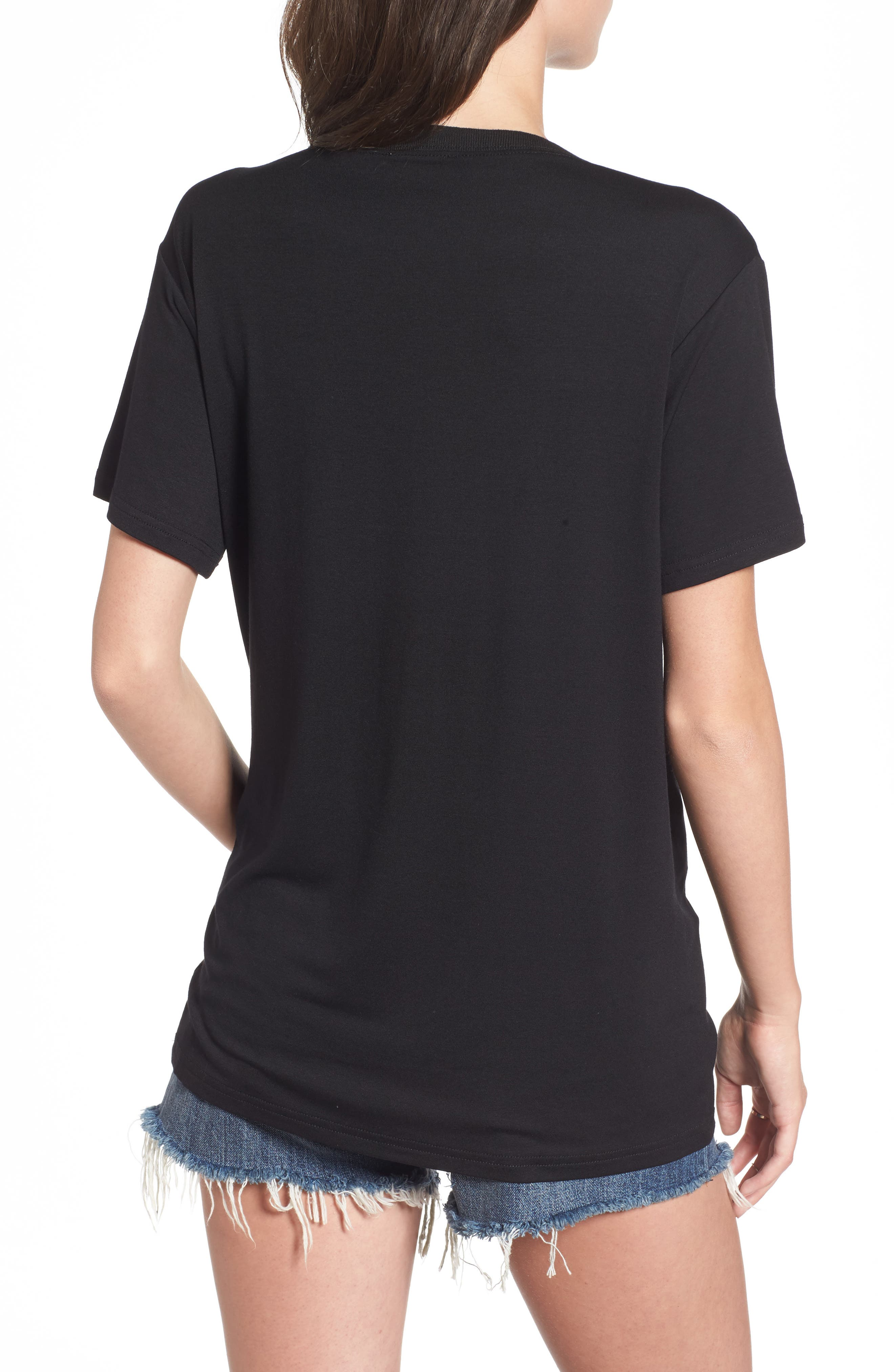 Valley Mesh Inset Tee,                             Alternate thumbnail 2, color,                             001