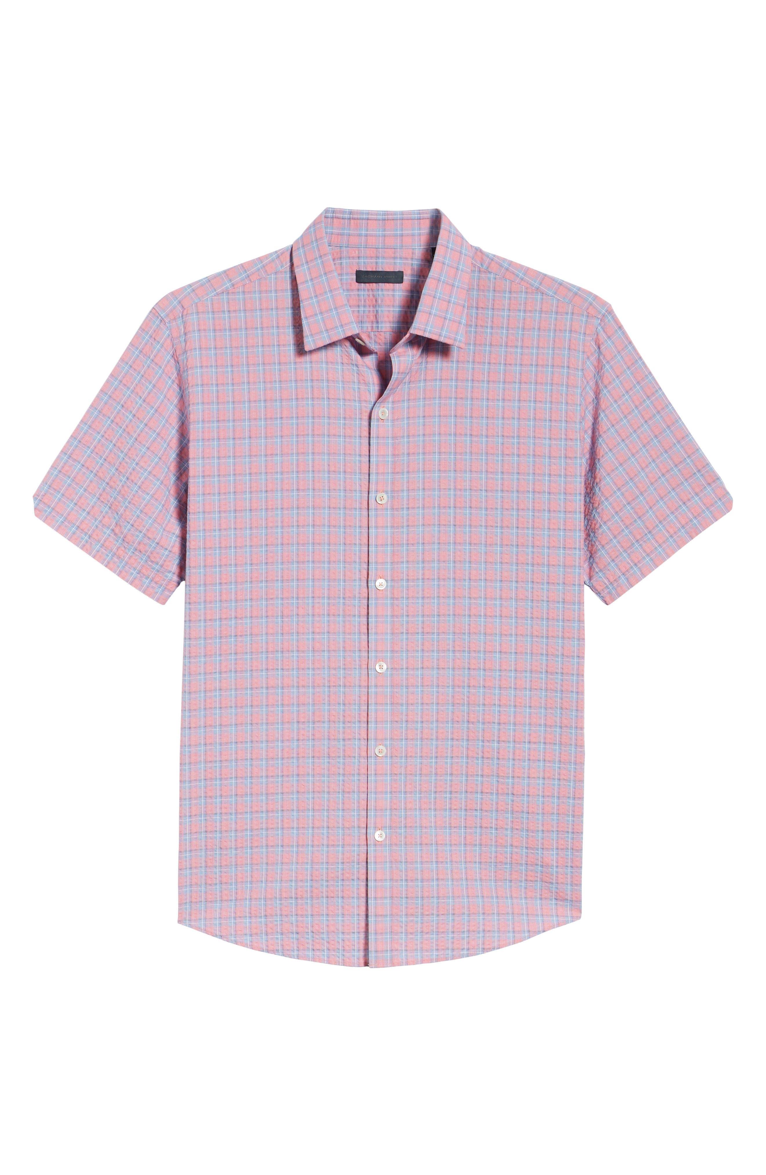 Luna Trim Fit Seersucker Sport Shirt,                             Alternate thumbnail 6, color,                             632