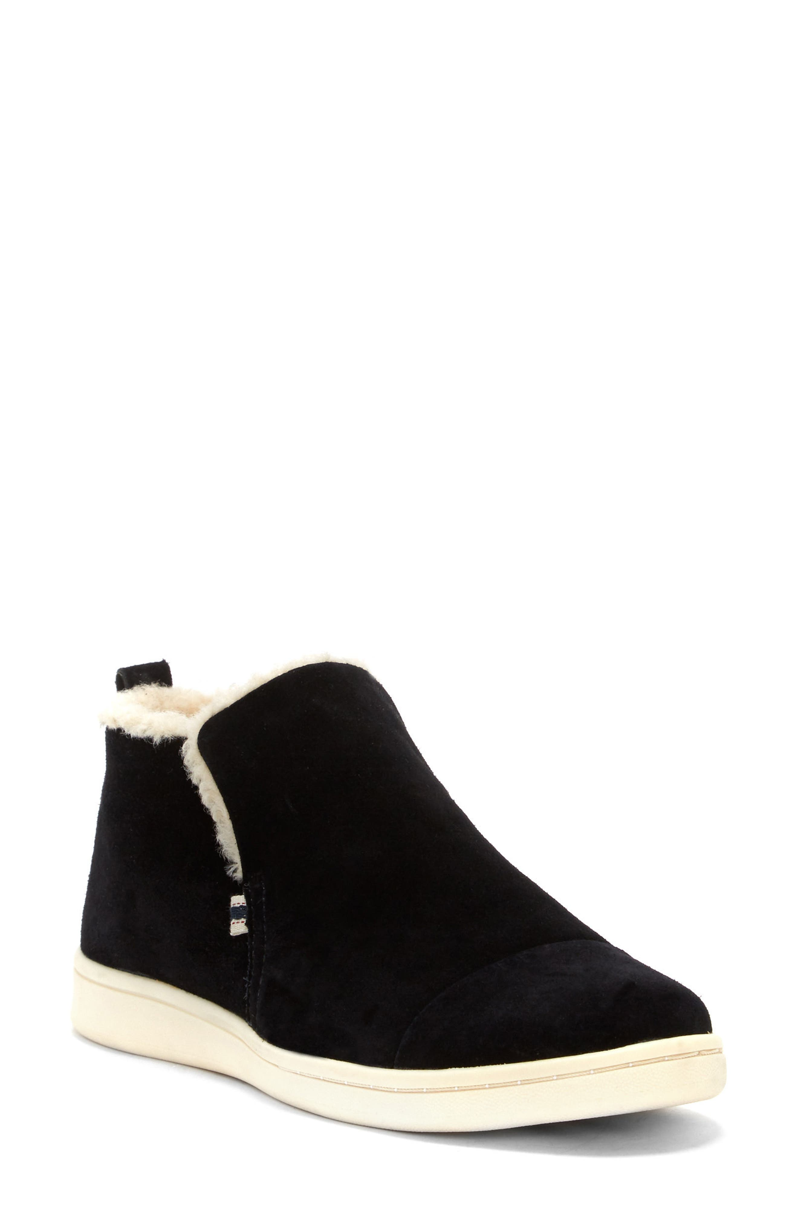Cambon Faux-Shearling Lined Bootie,                         Main,                         color, 002