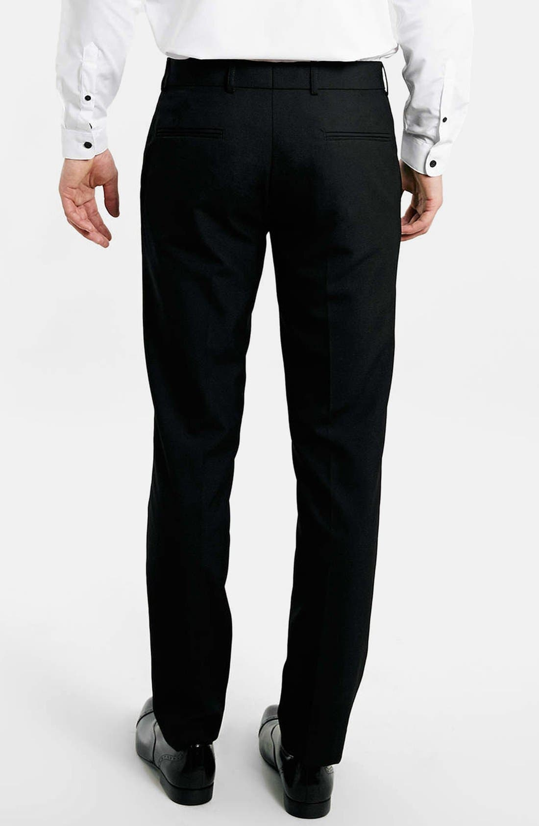Black Skinny Fit Trousers,                             Alternate thumbnail 3, color,                             001
