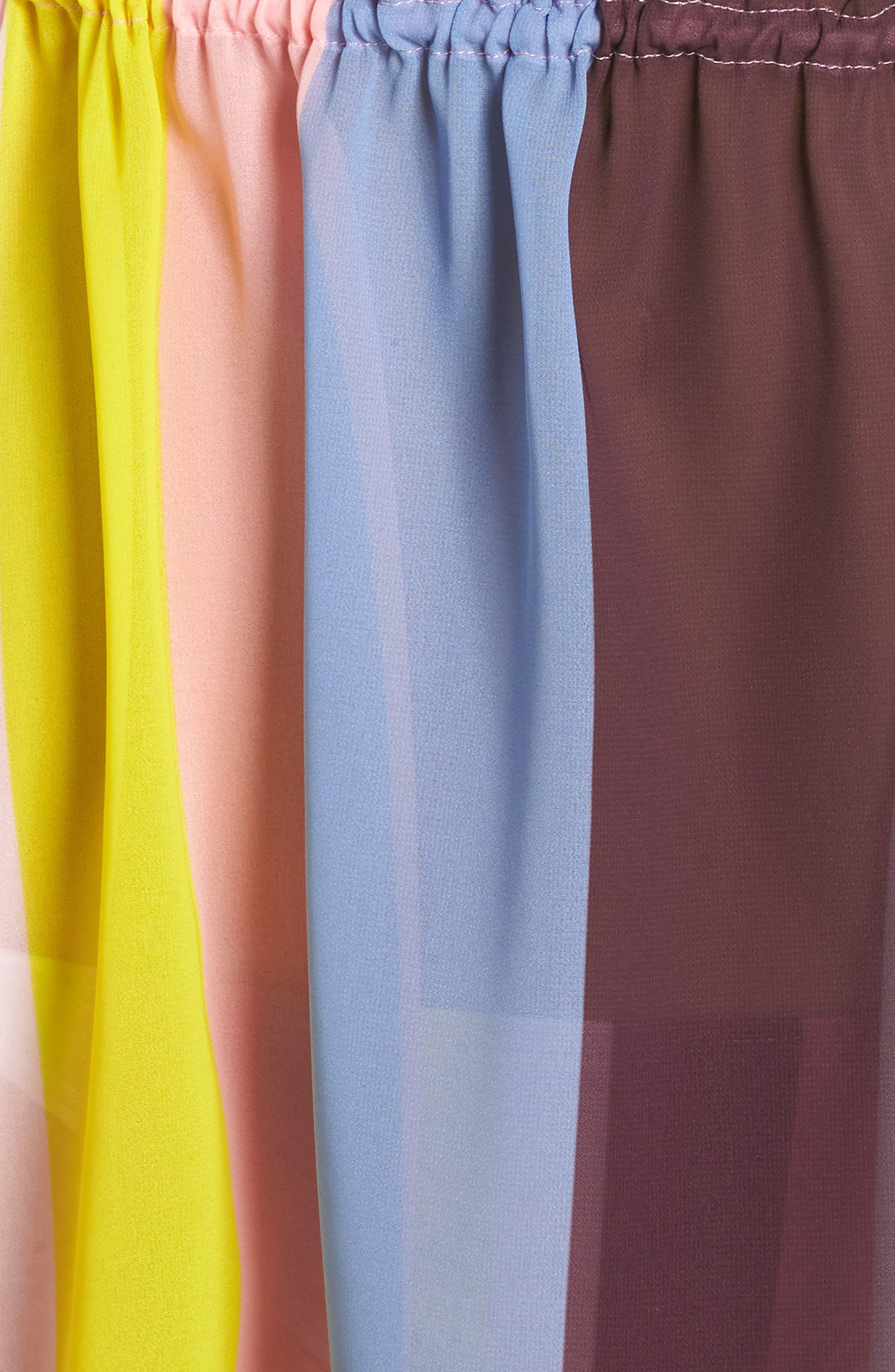 Penaree Rio Stripe Tabbard Cover-Up,                             Alternate thumbnail 5, color,                             LIGHT PINK