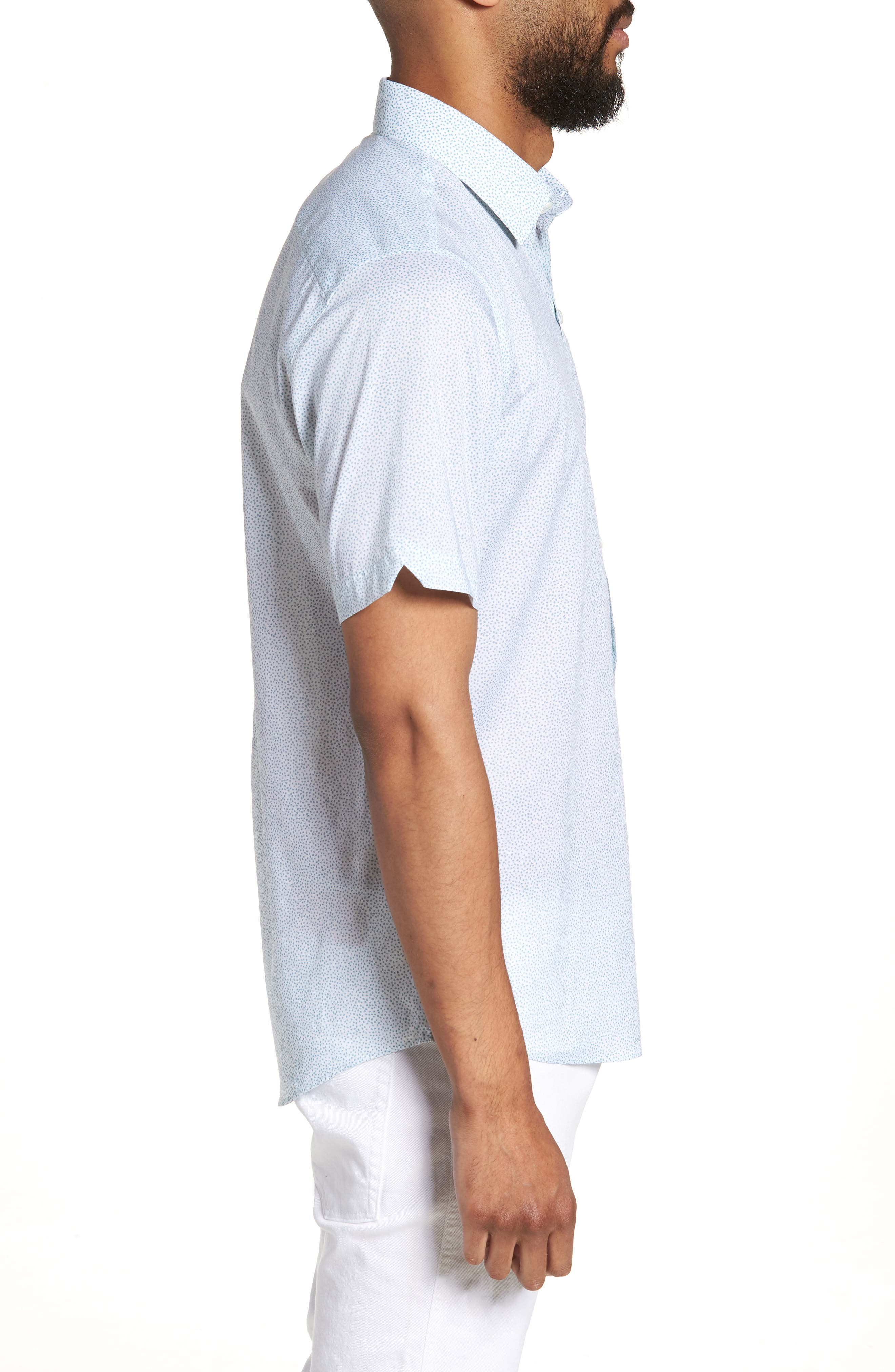 Fung Regular Fit Sport Shirt,                             Alternate thumbnail 3, color,                             WHITE