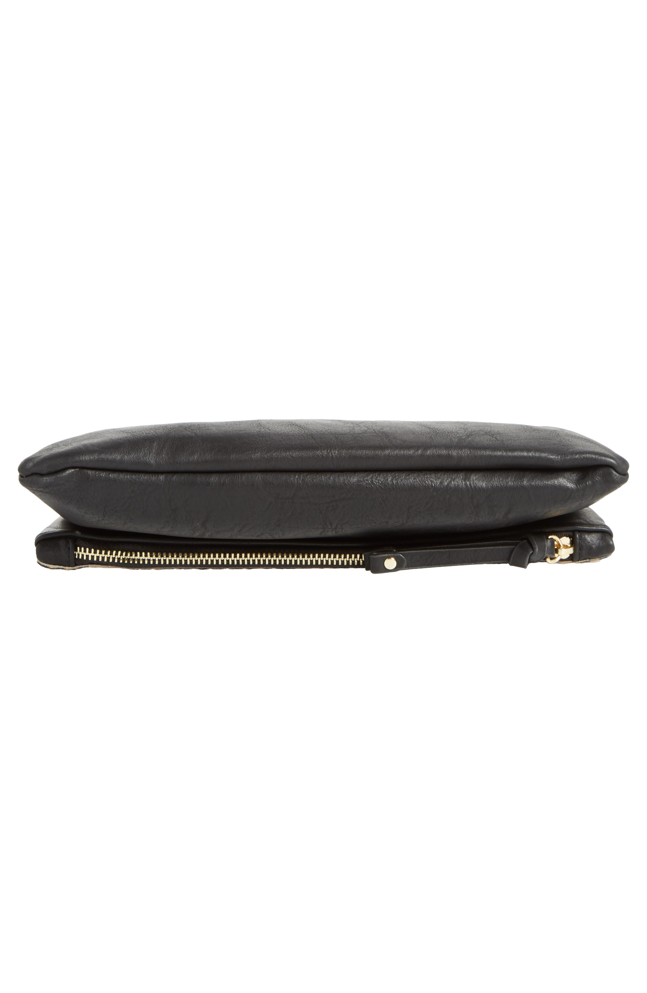 Marlena Faux Leather Foldover Clutch,                             Alternate thumbnail 6, color,                             200