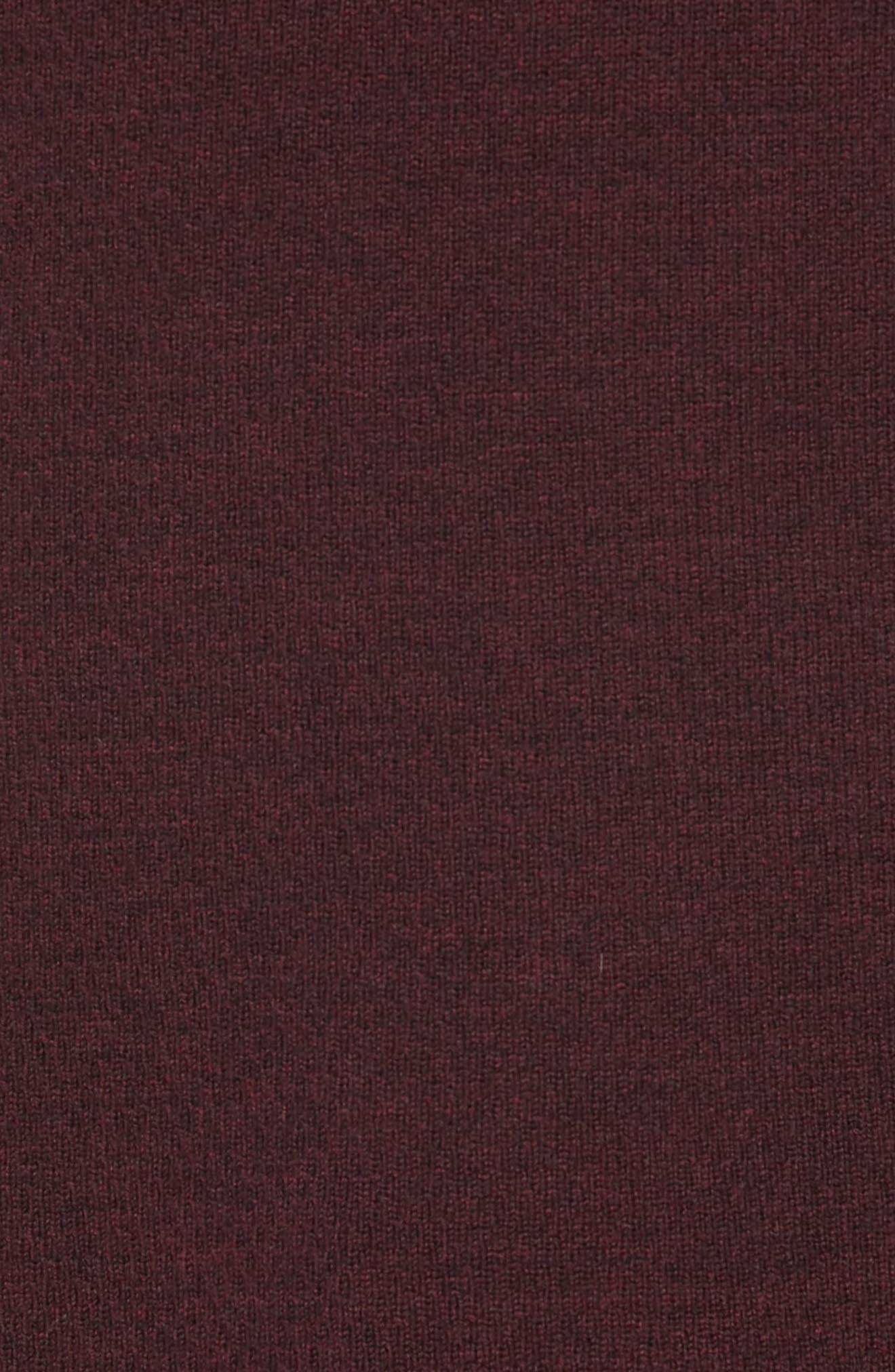 Gregory Merino Wool Blend Crewneck Sweater,                             Alternate thumbnail 5, color,                             BURGUNDY
