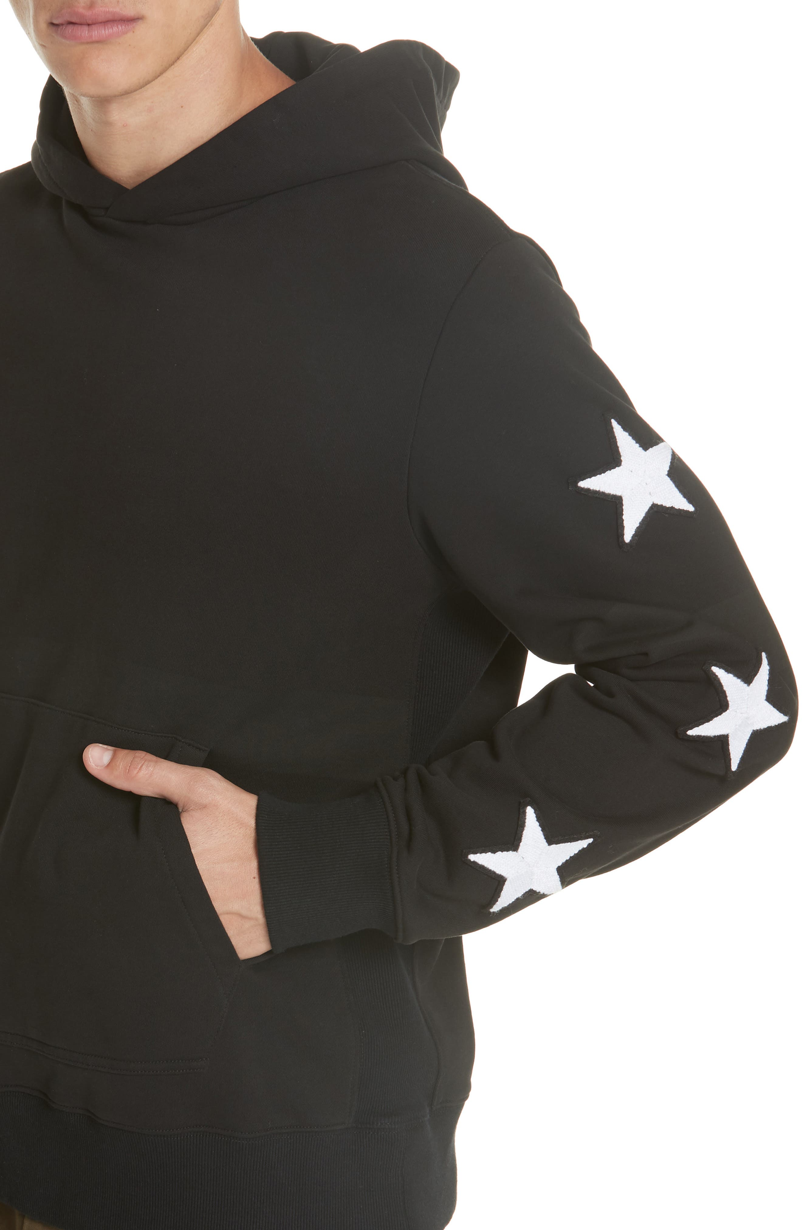 Star Patch Hoodie,                             Alternate thumbnail 4, color,                             001