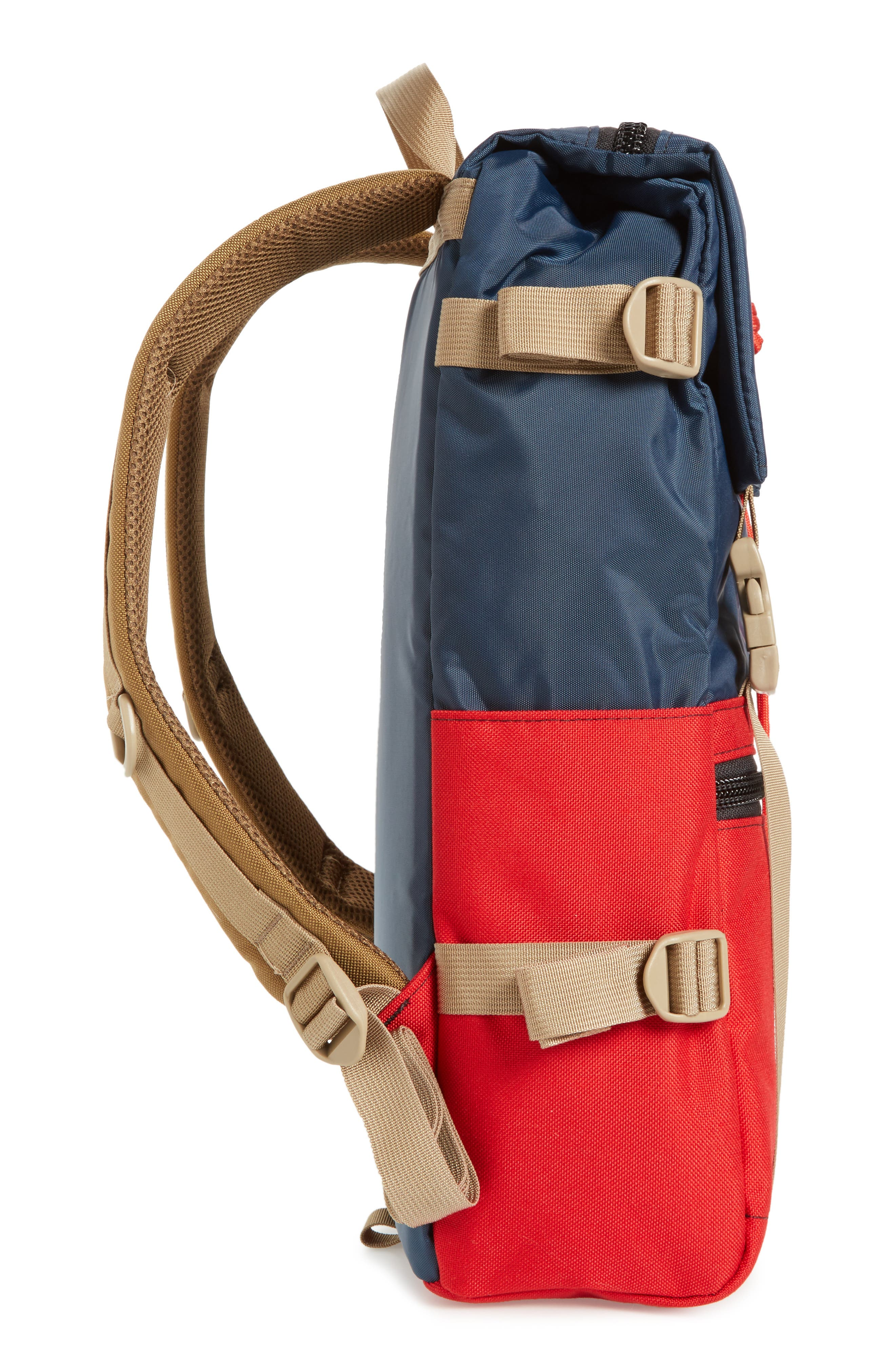 'Rover' Backpack,                             Alternate thumbnail 5, color,                             NAVY/ RED