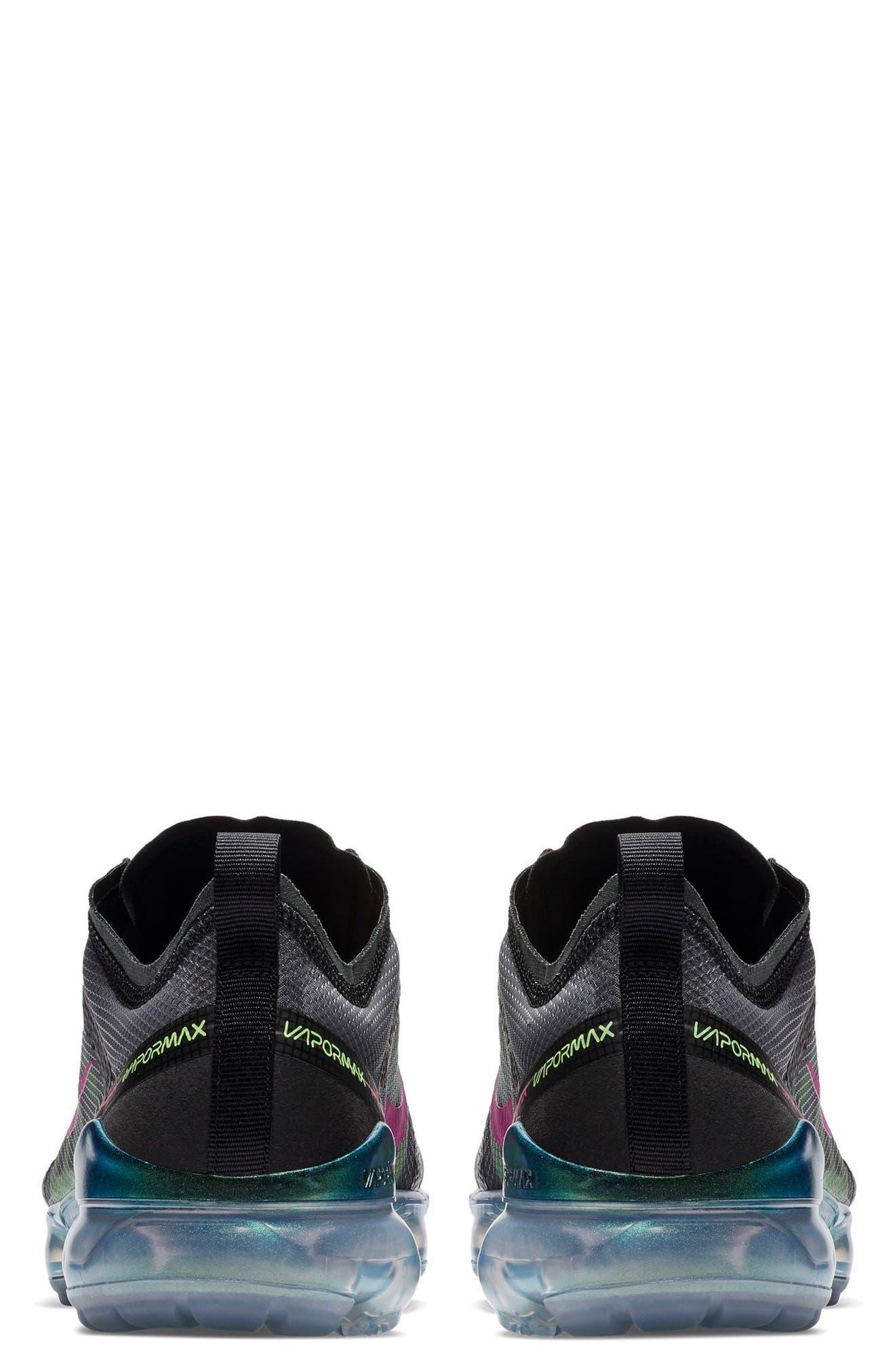 Air VaporMax 2019 Running Shoe,                             Alternate thumbnail 2, color,                             BLACK/ FUCHSIA/ BLUE