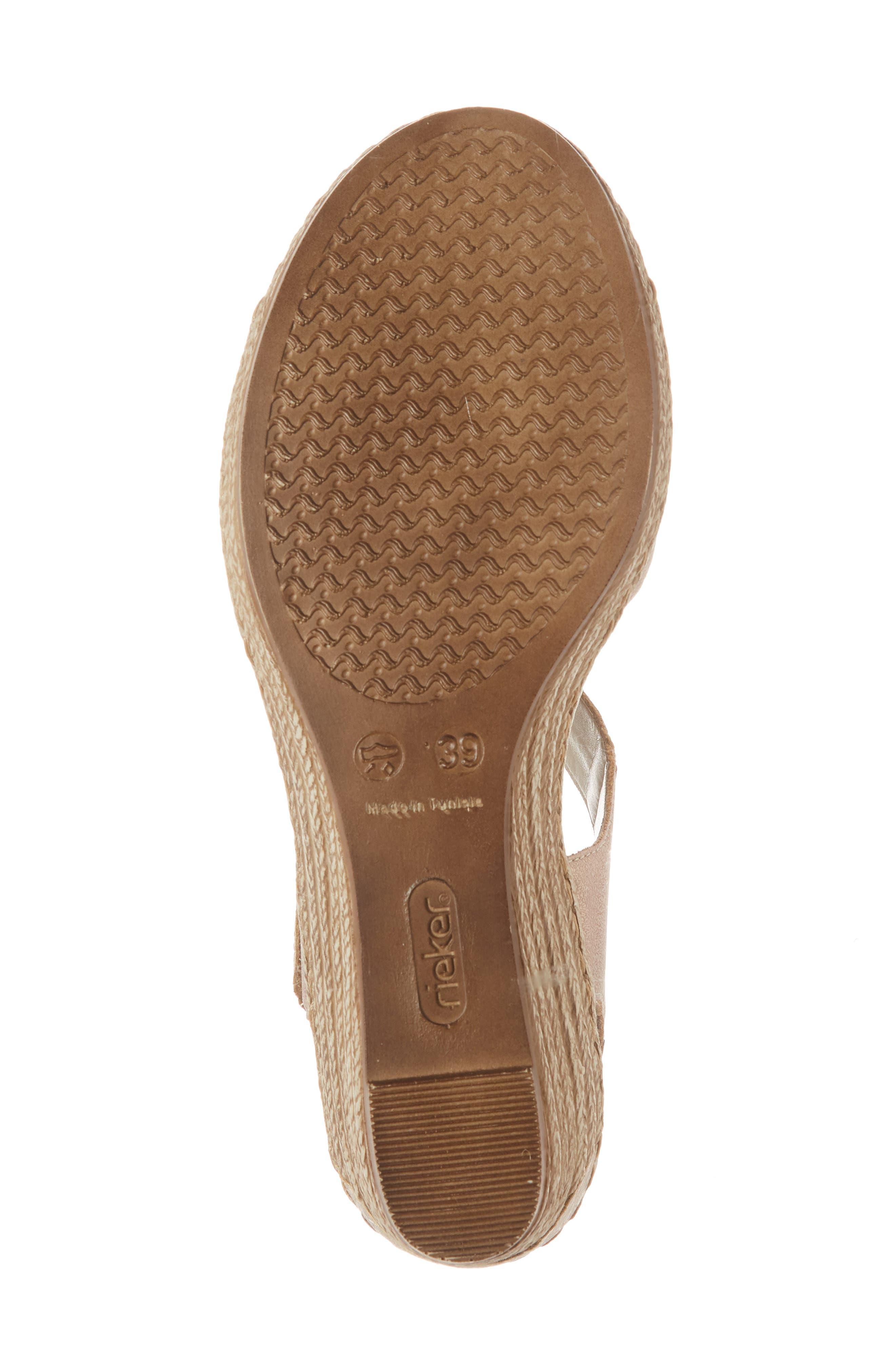RIEKER ANTISTRESS,                             Fanni 70 Wedge Sandal,                             Alternate thumbnail 6, color,                             ROSE/ GINGER