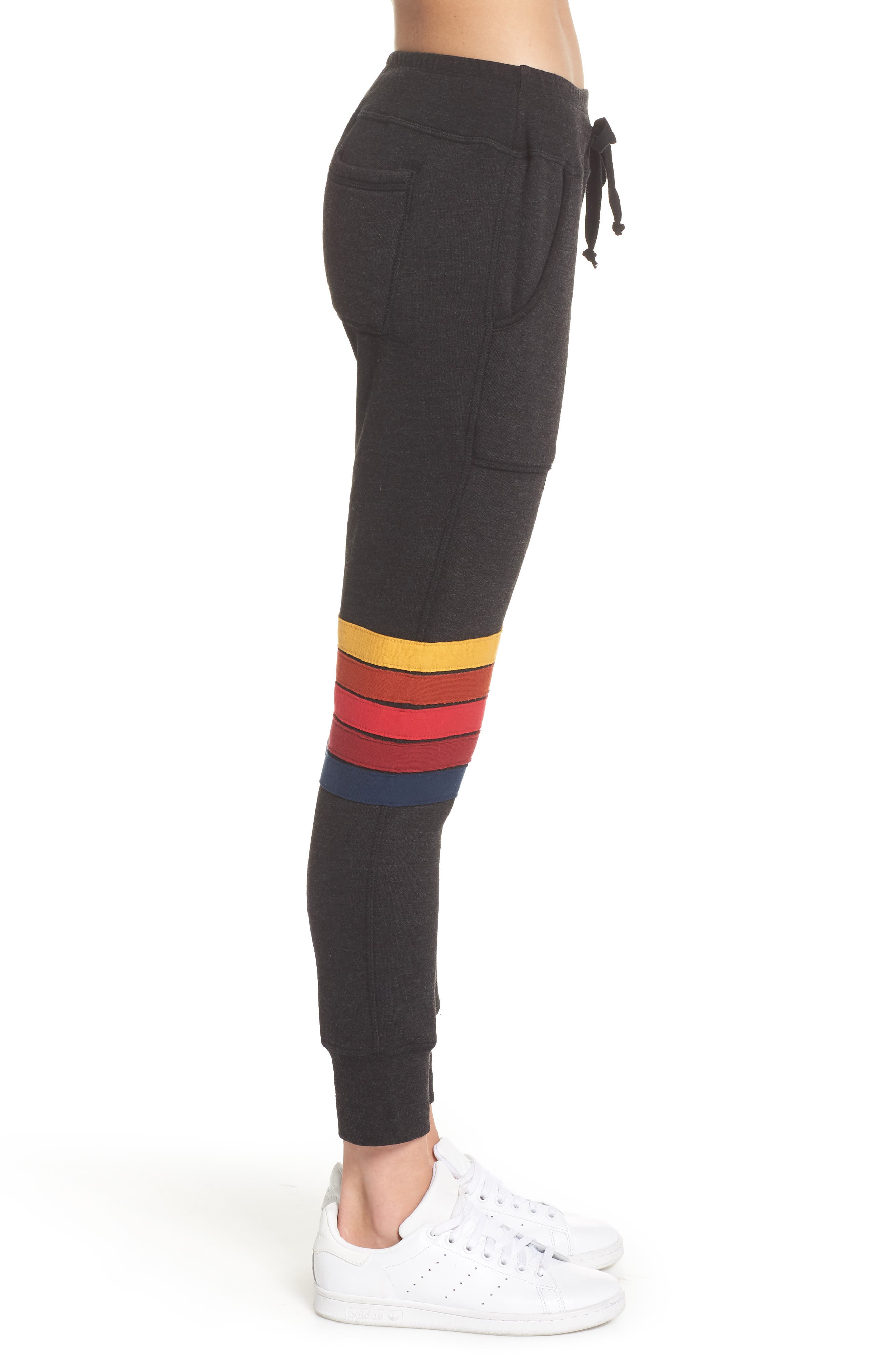 Moto Stripe Sweatpants,                             Alternate thumbnail 3, color,                             002
