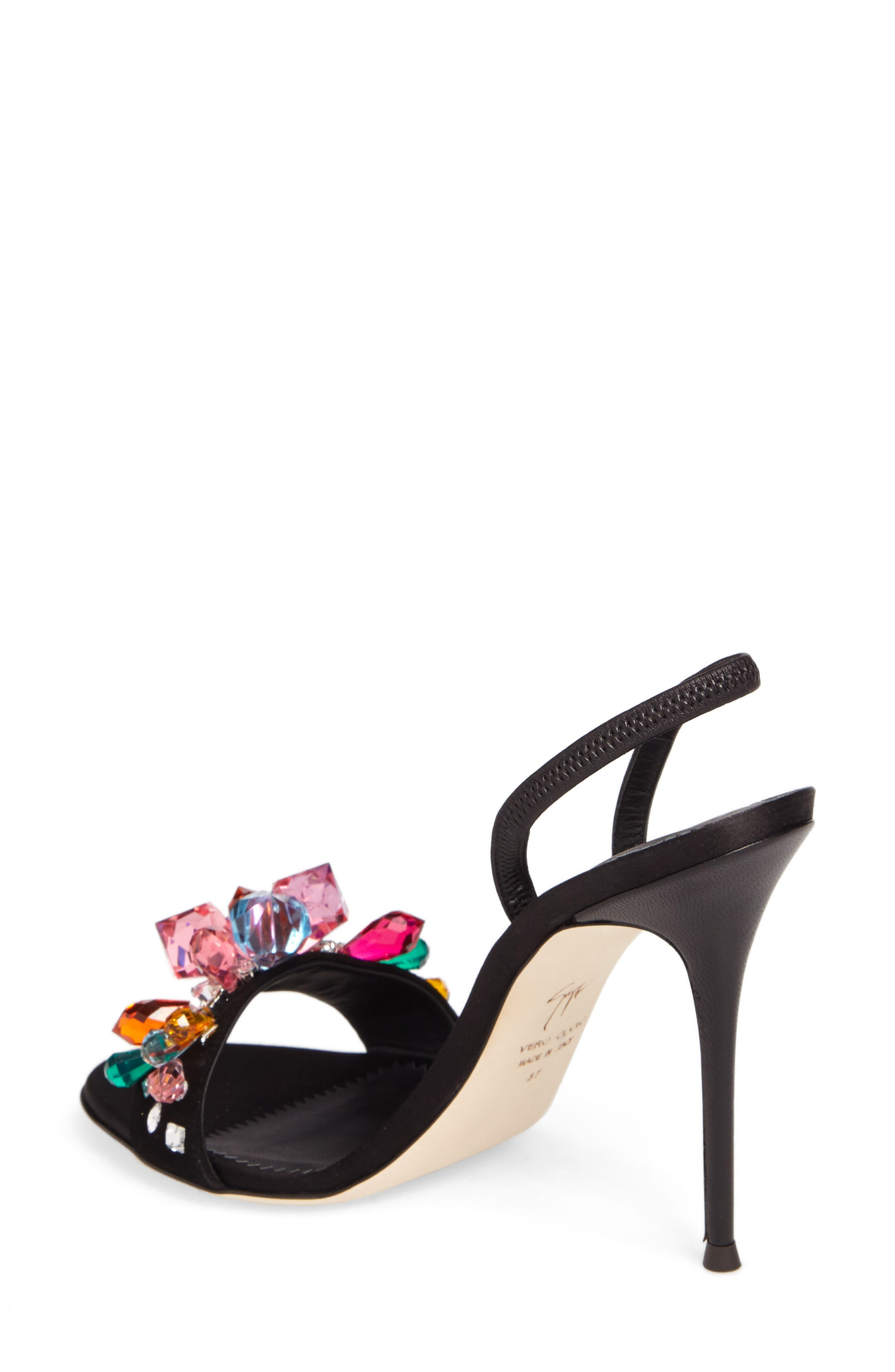 Mistico Crystal Embellished Slingback Sandal,                             Alternate thumbnail 2, color,