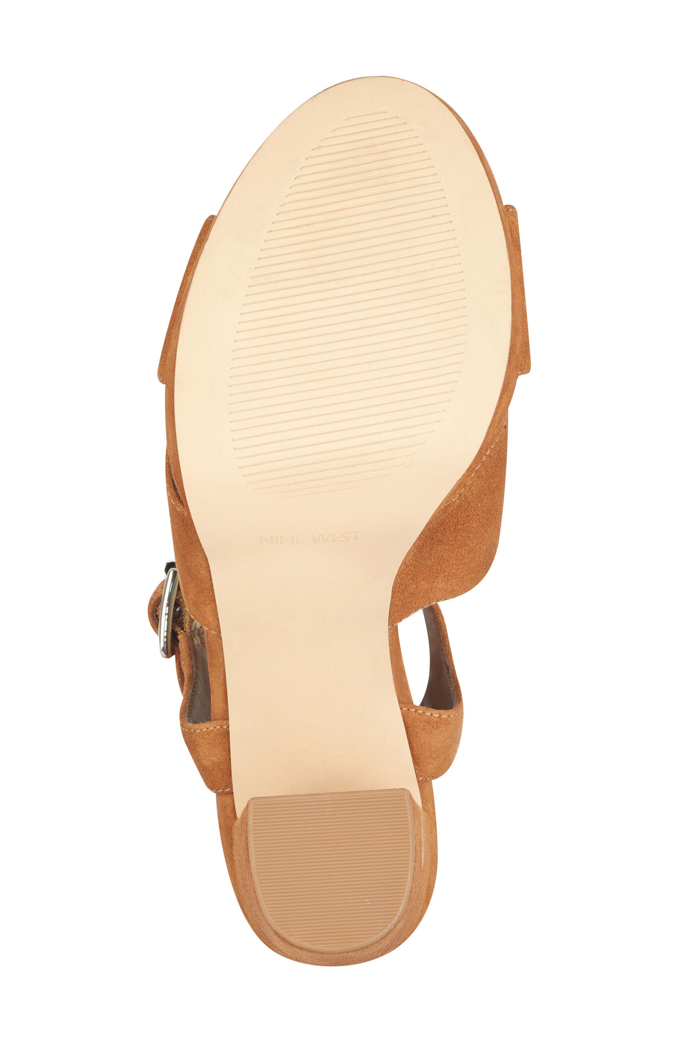 Jimar Platform Sandal,                             Alternate thumbnail 6, color,                             DARK NATURAL SUEDE