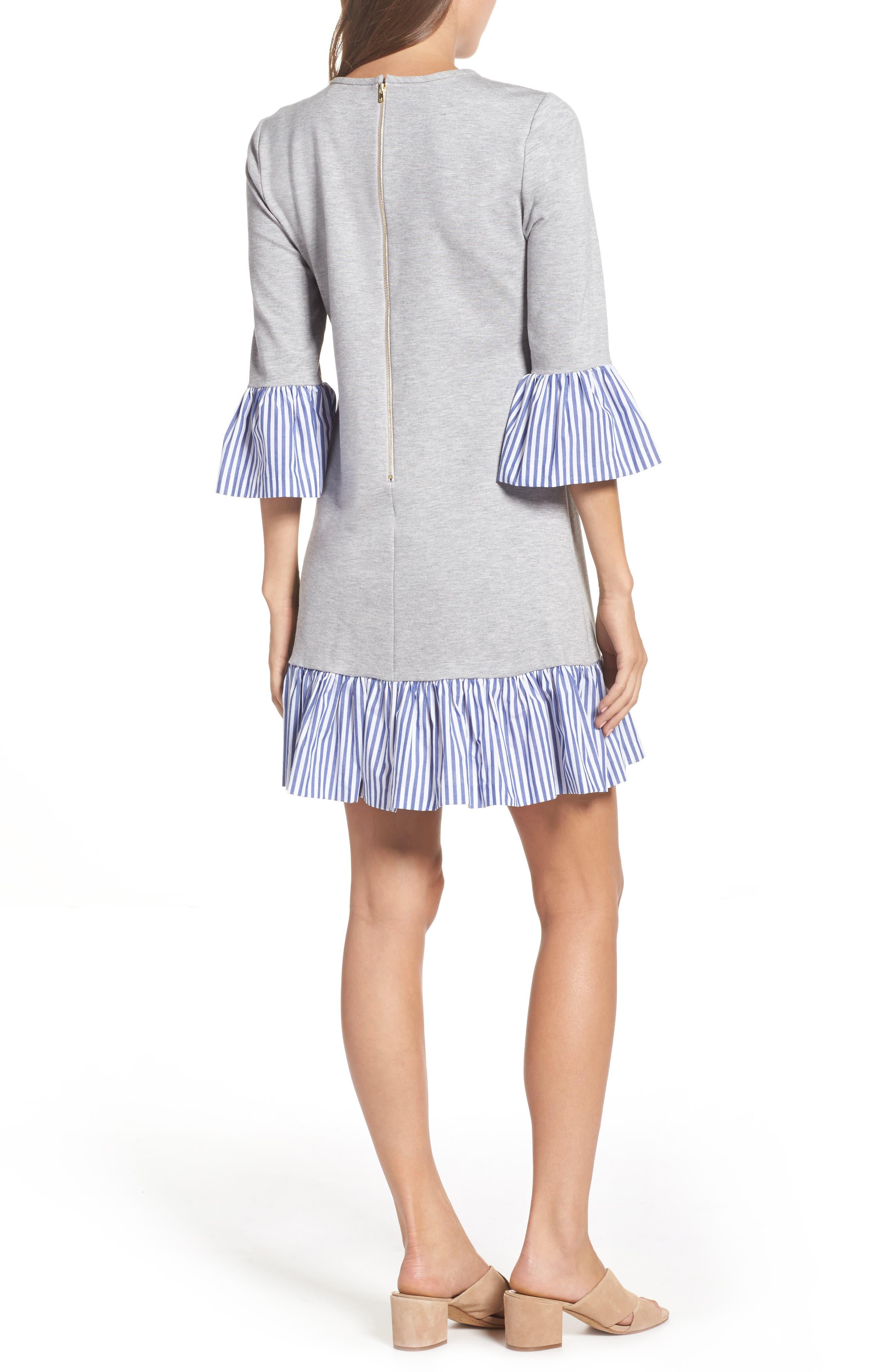 Flounce Hem Sweatshirt Dress,                             Alternate thumbnail 2, color,                             030