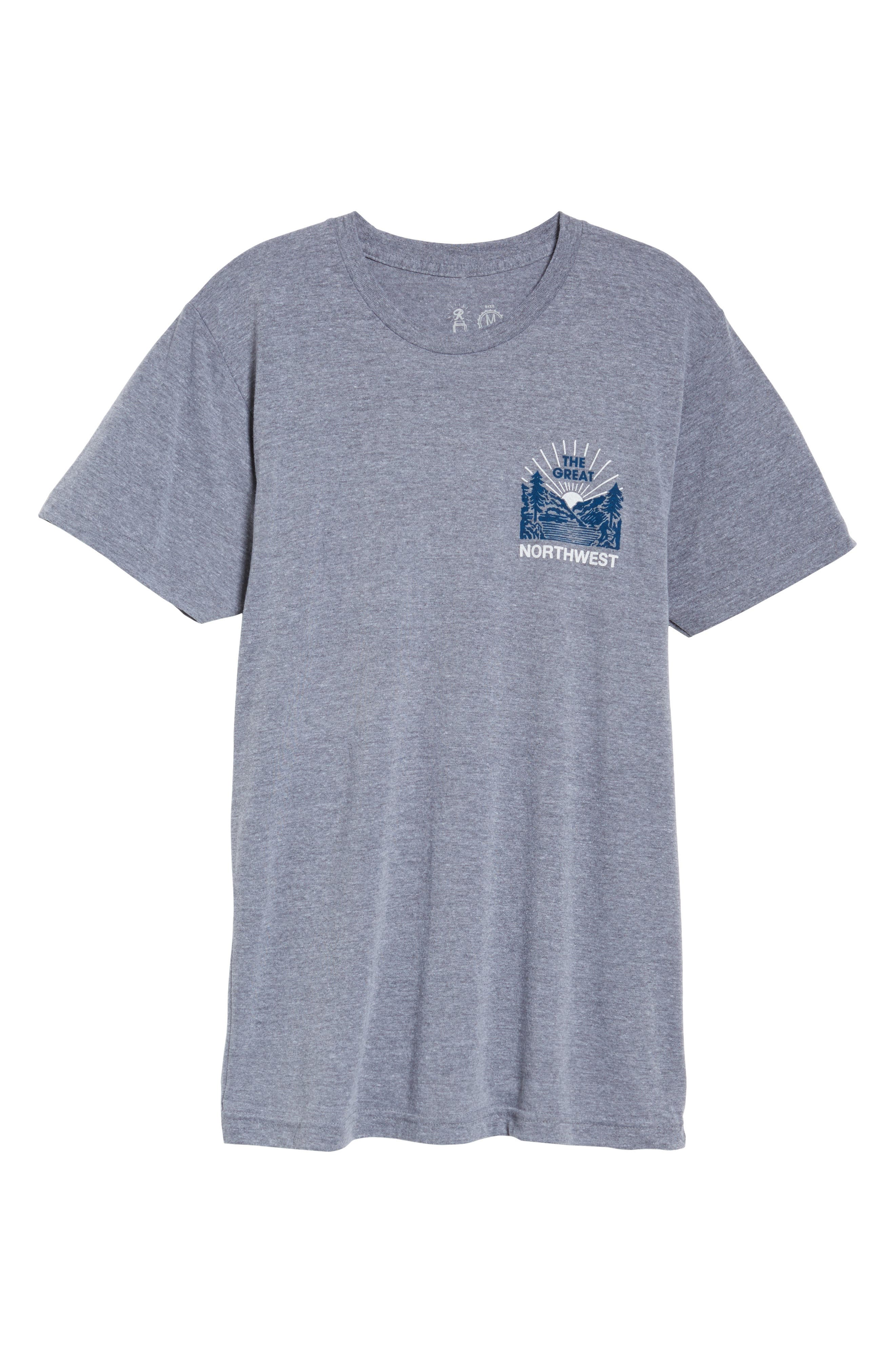 Squatch Valley 2 Graphic T-Shirt,                             Alternate thumbnail 6, color,                             070
