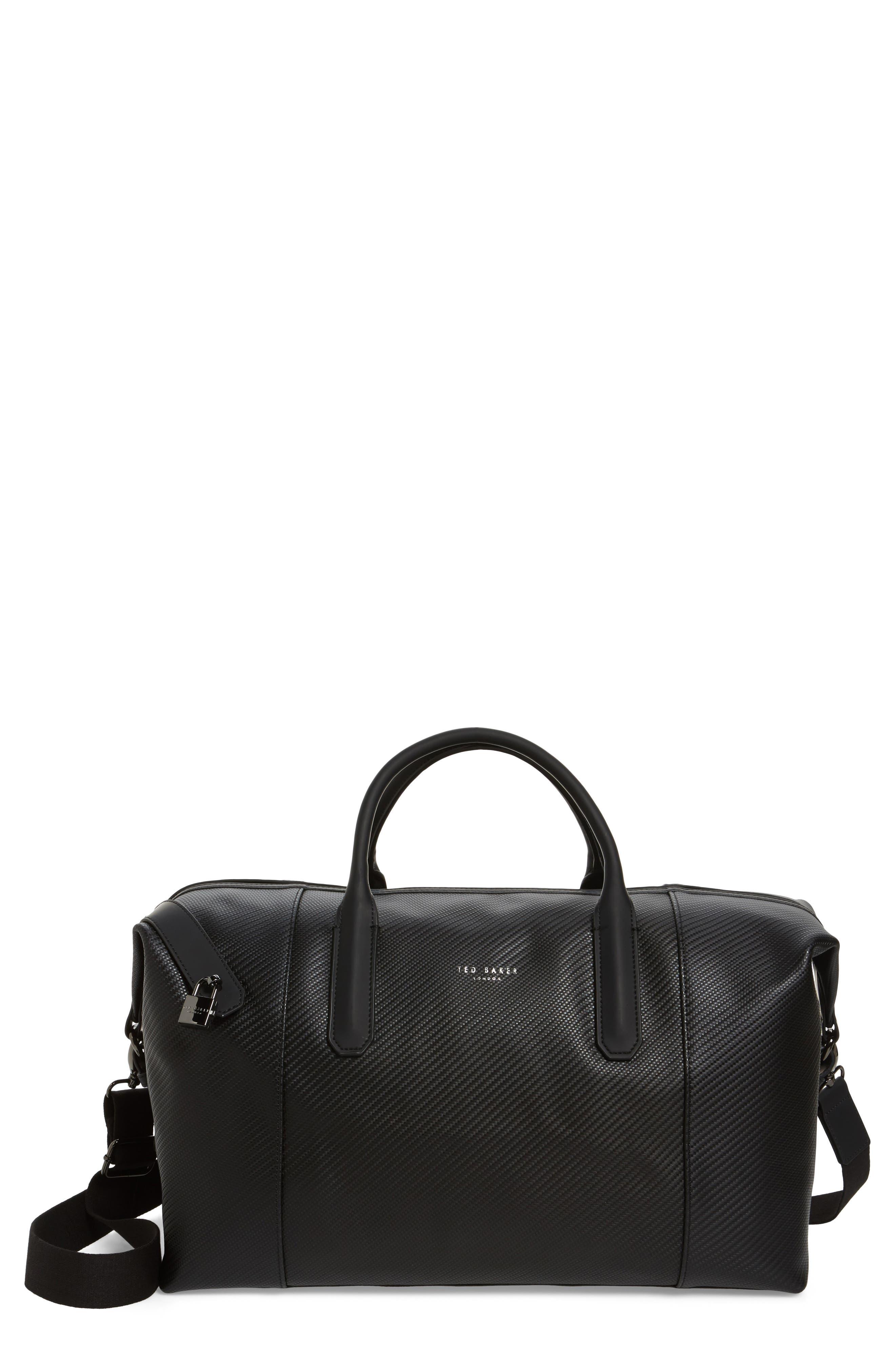 Novana Leather Duffel Bag,                             Main thumbnail 1, color,
