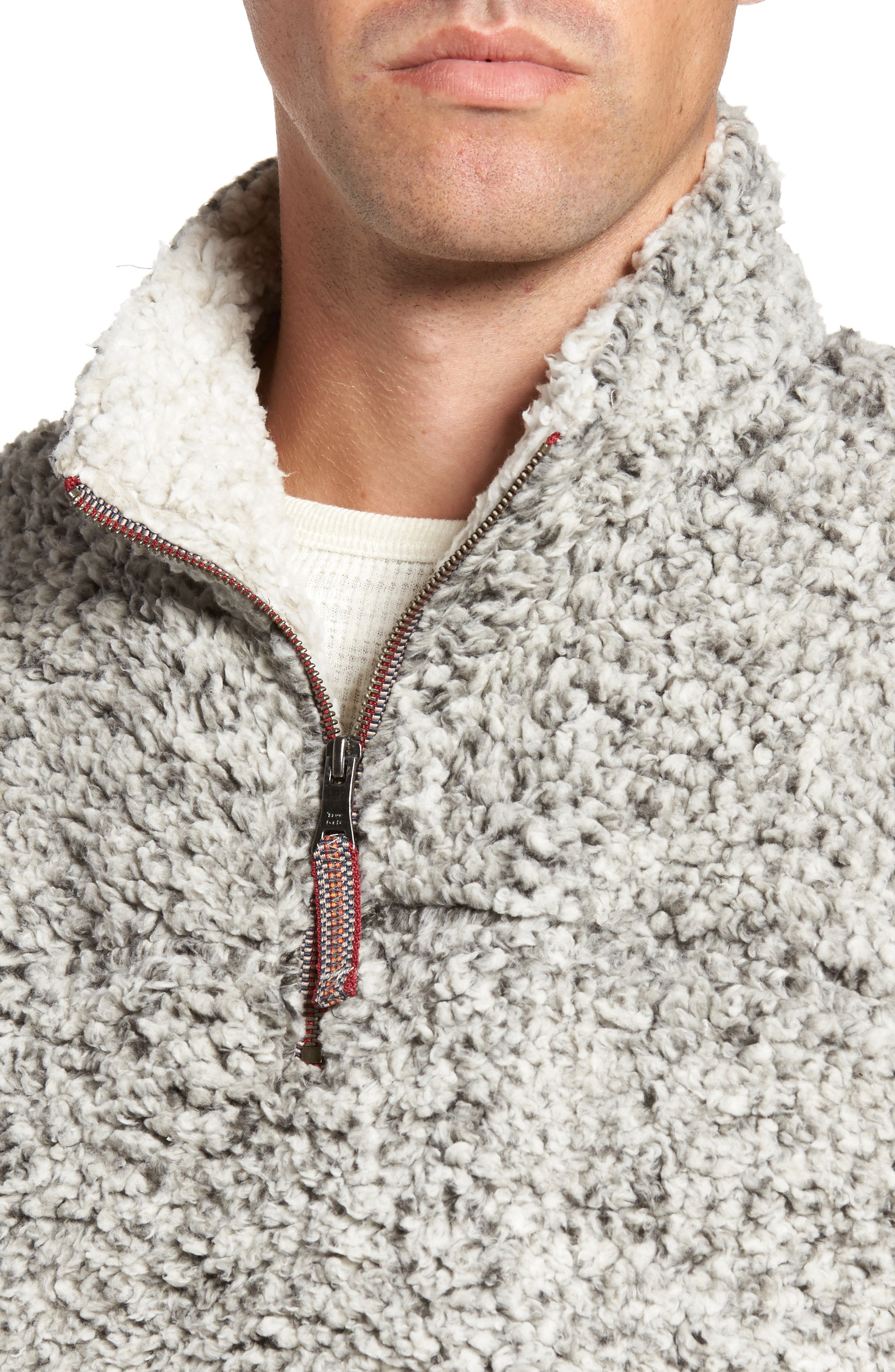 Frosty Tipped Quarter Zip Pullover,                             Alternate thumbnail 4, color,                             020