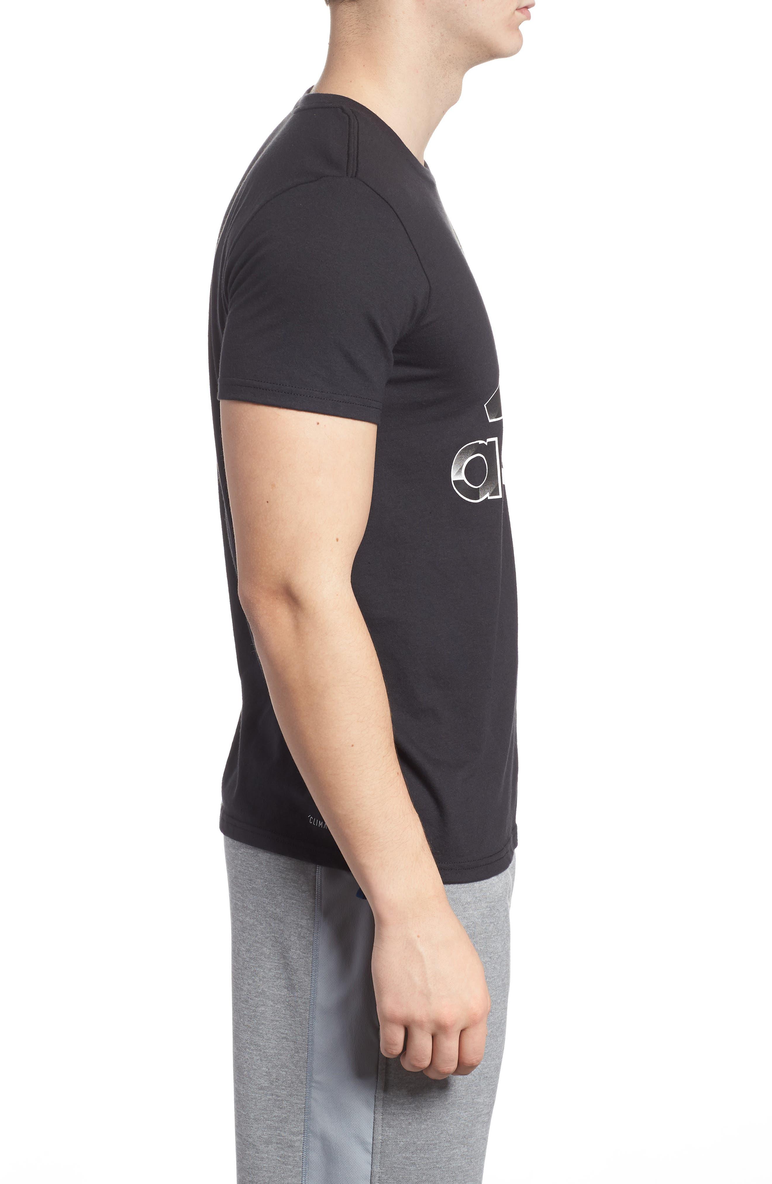 Bos Split T-Shirt,                             Alternate thumbnail 3, color,                             001