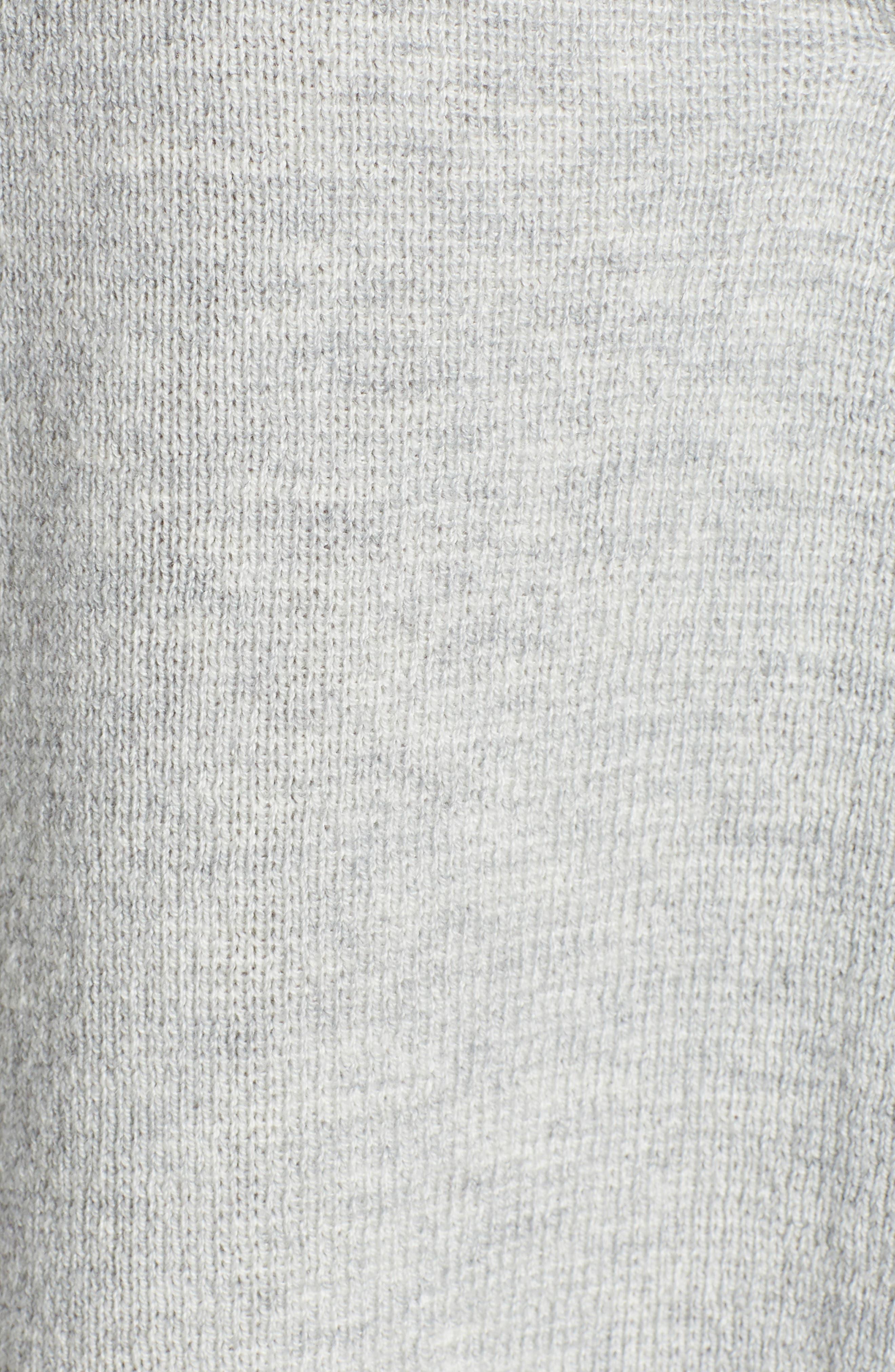 Split Neck Sweater,                             Alternate thumbnail 5, color,                             MED GREY