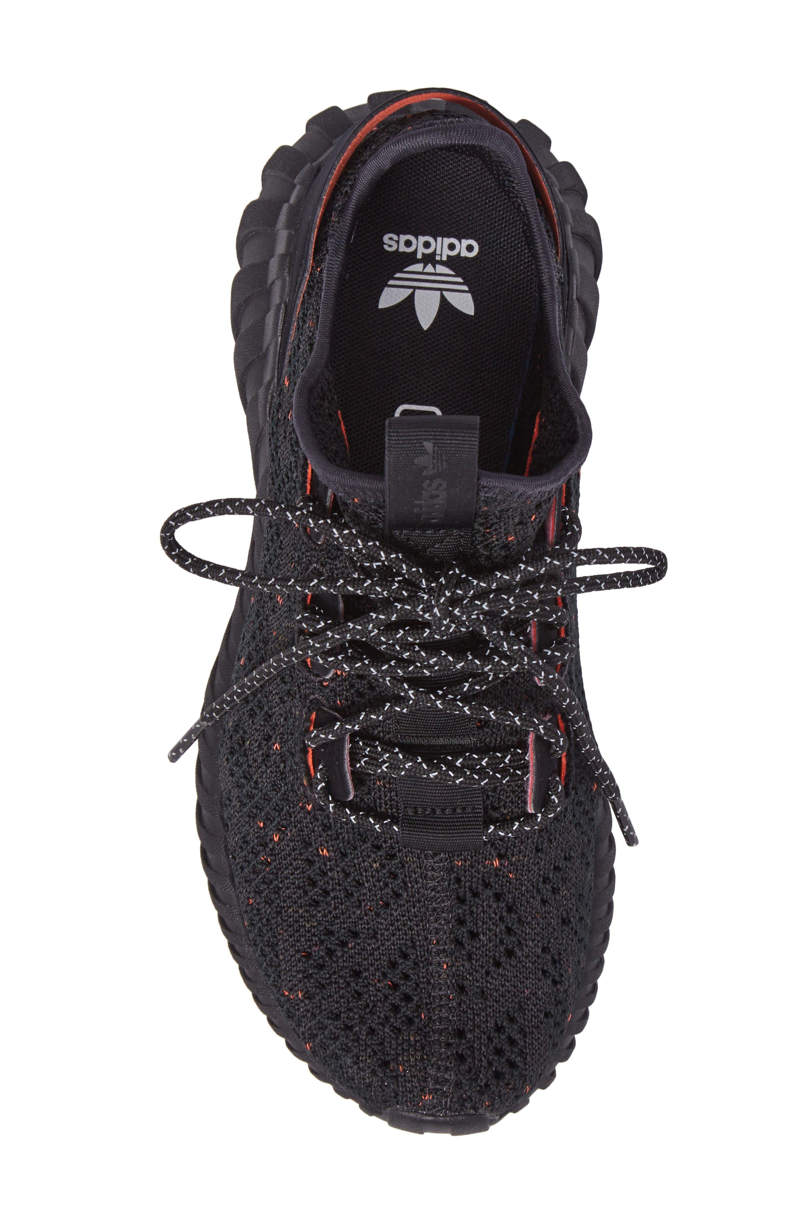 Tubular Doom Primeknit Sneaker,                             Alternate thumbnail 5, color,                             002