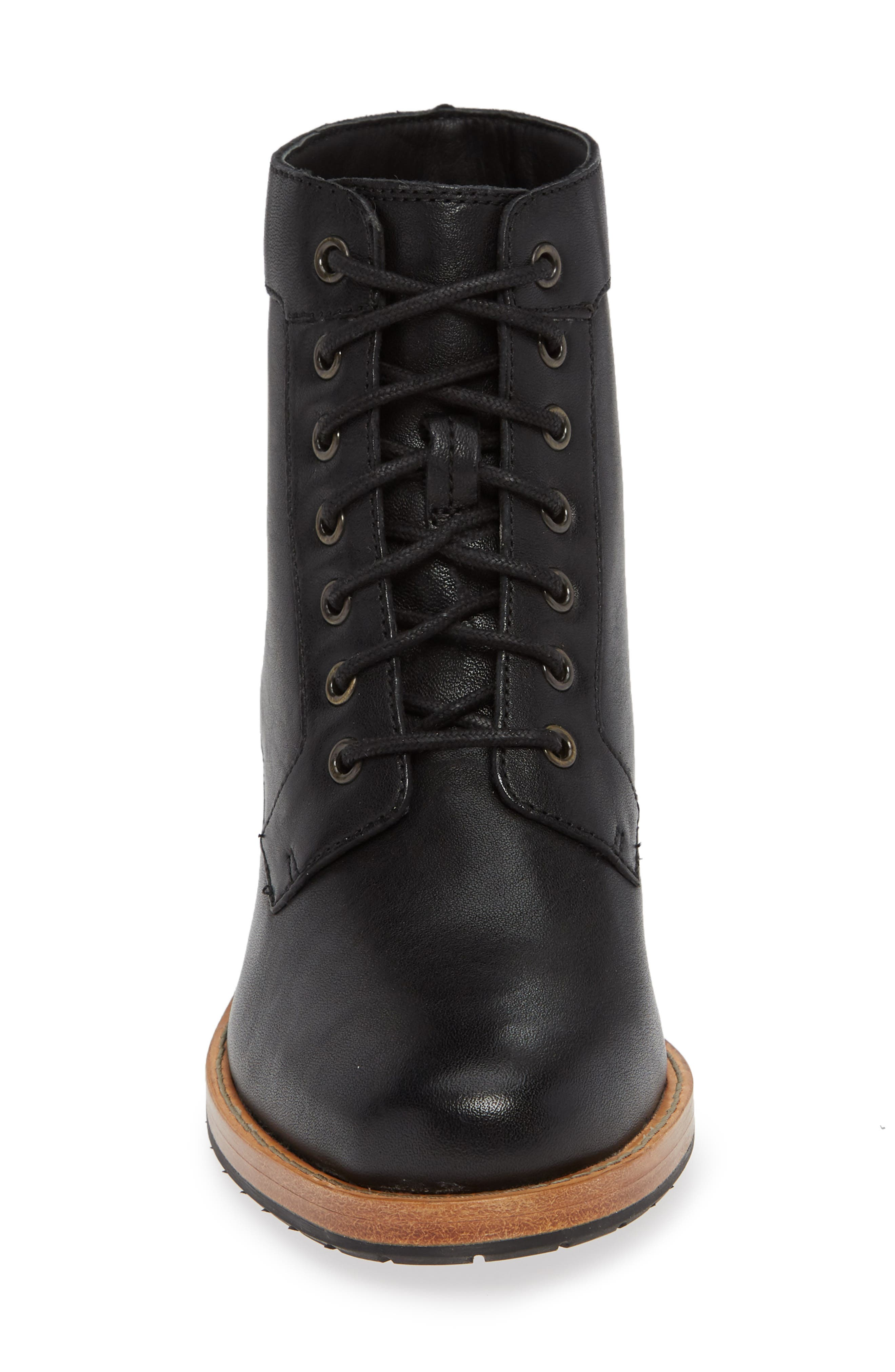 Clarkdale Tone Boot,                             Alternate thumbnail 4, color,                             BLACK LEATHER