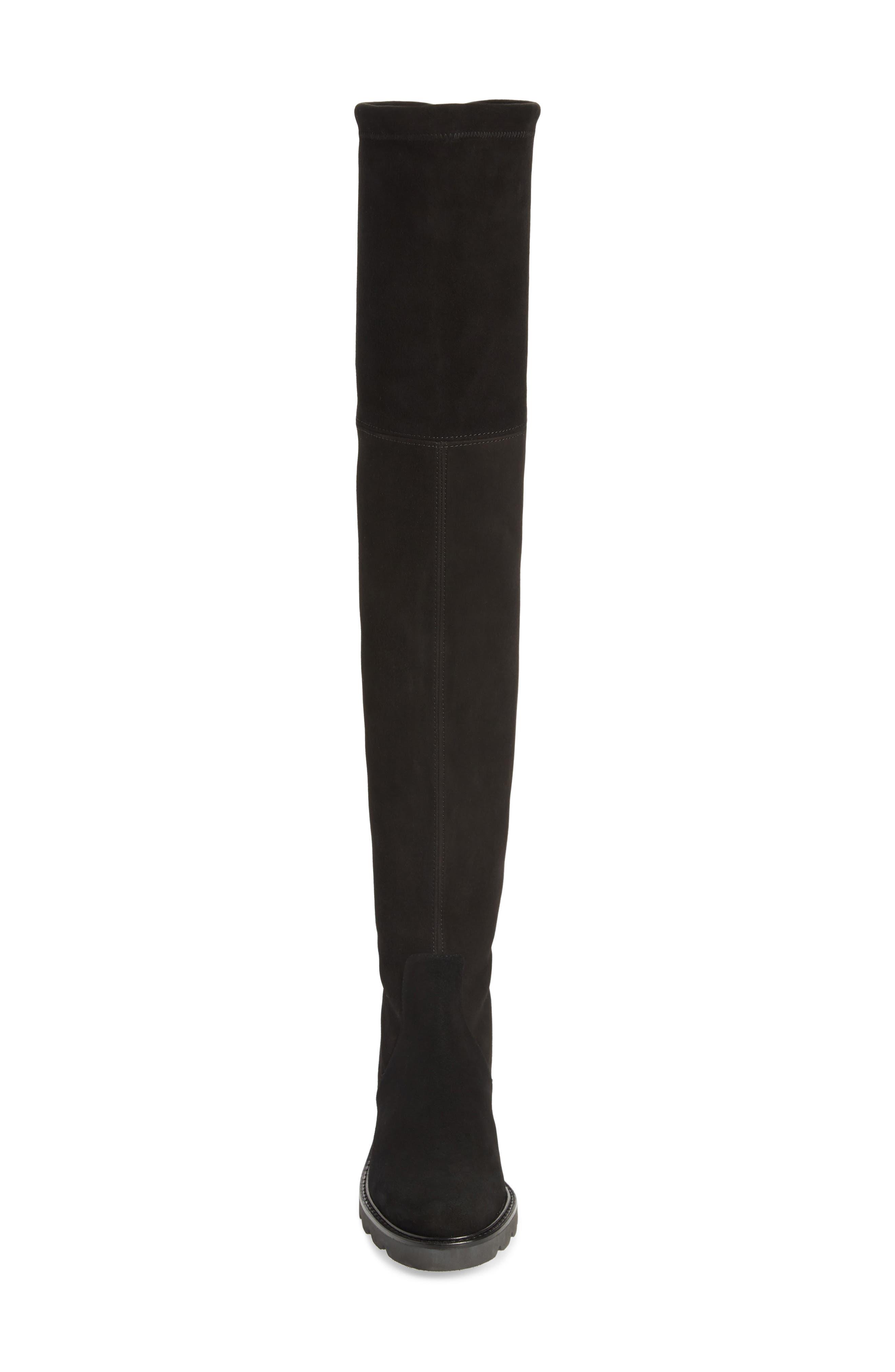 Eldridge Over the Knee Boot,                             Alternate thumbnail 4, color,                             BLACK SUEDE