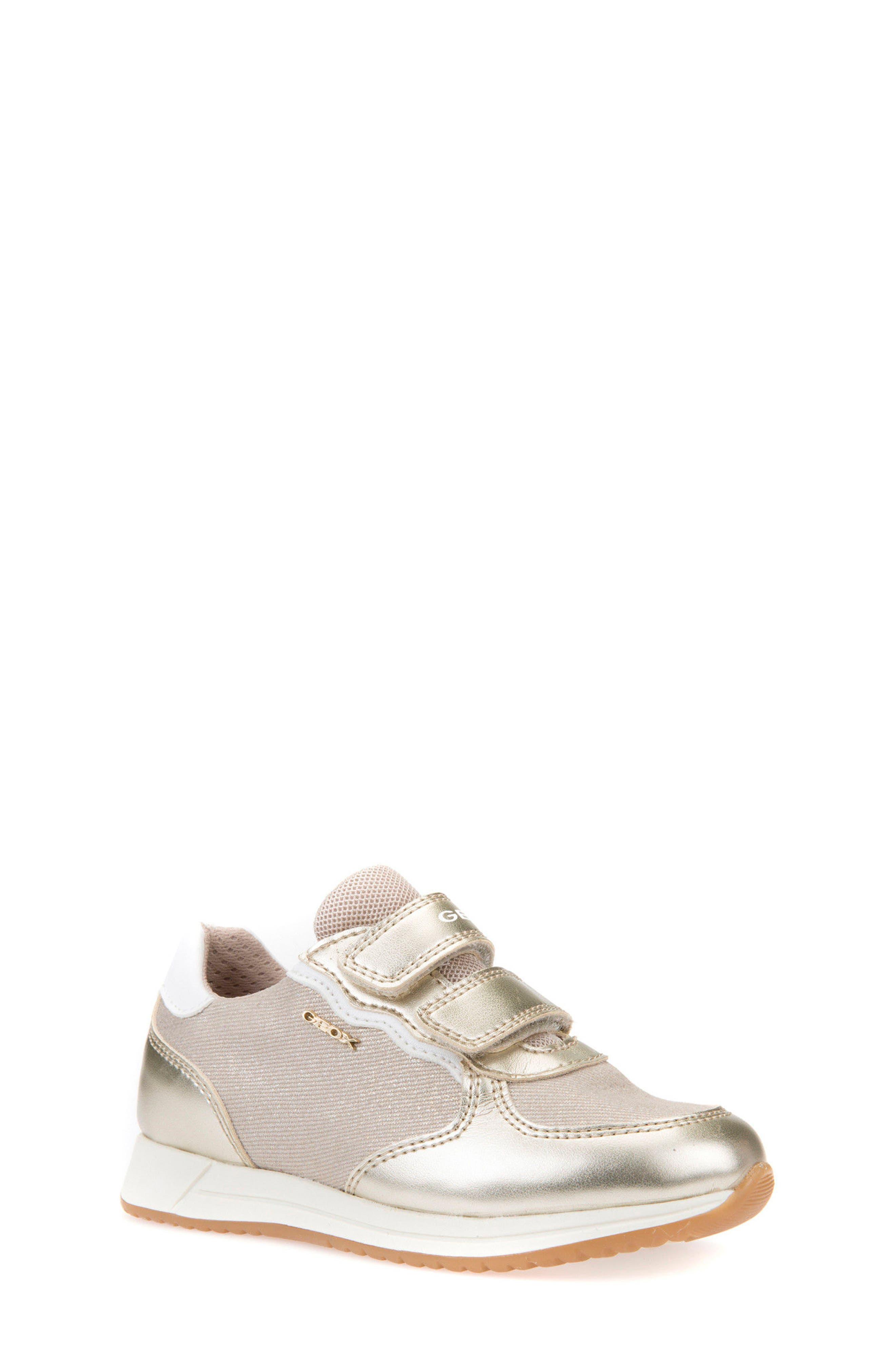 Jensea Metallic Accent Sneaker,                         Main,                         color, BEIGE/ LIGHT GOLD