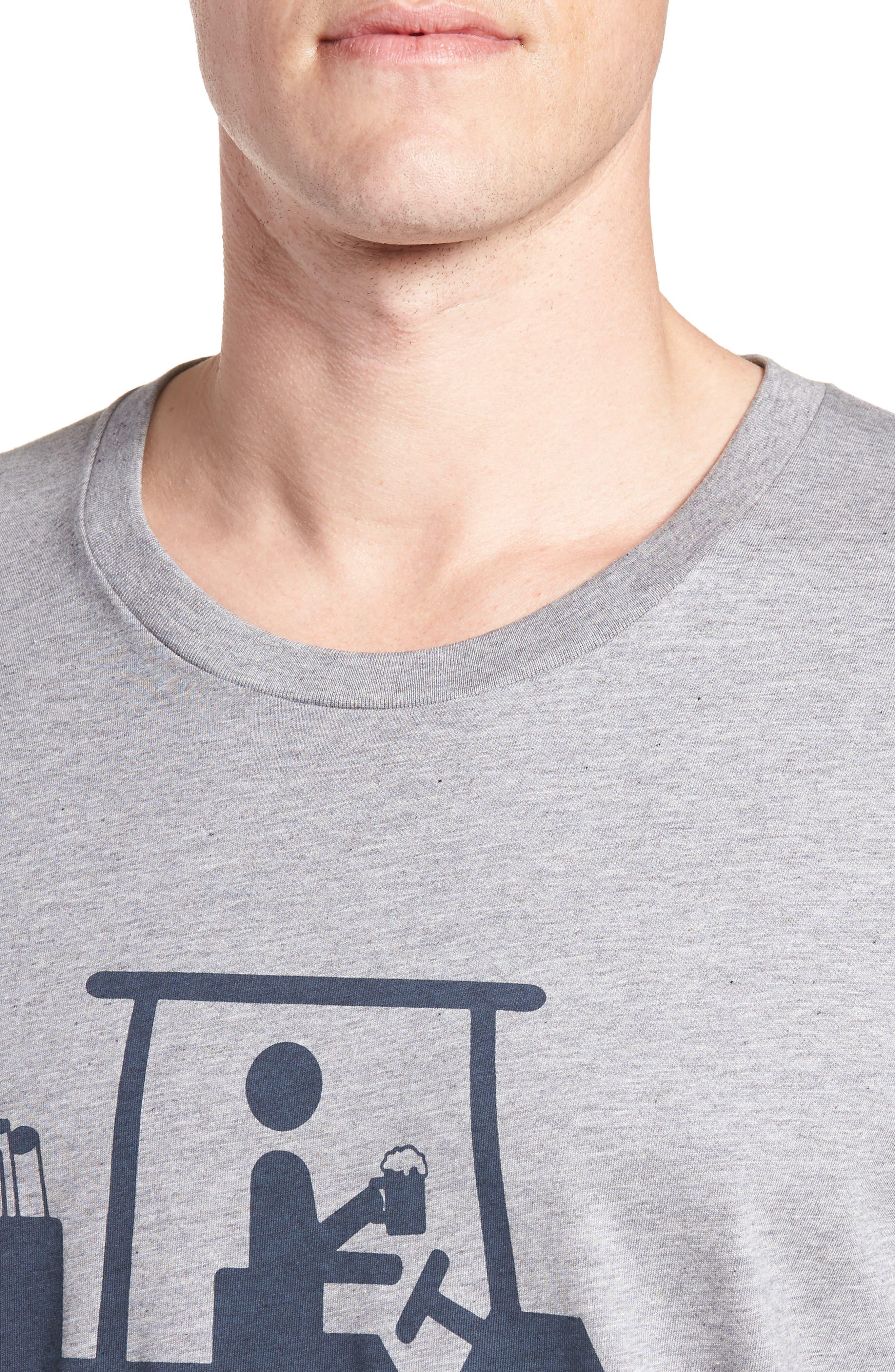 'Mapes' Graphic Pima Cotton T-Shirt,                             Alternate thumbnail 4, color,                             020