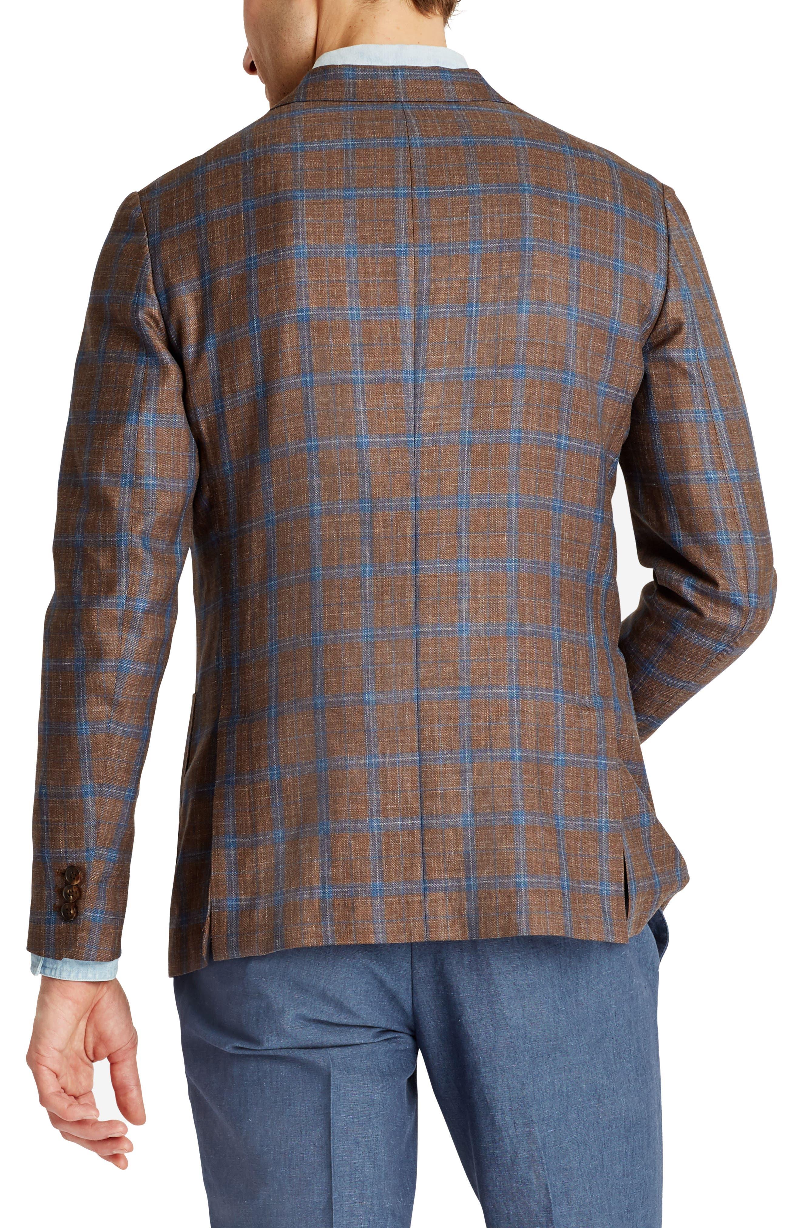 Capstone Slim Fit Plaid Wool Blend Sport Coat,                             Alternate thumbnail 2, color,                             200