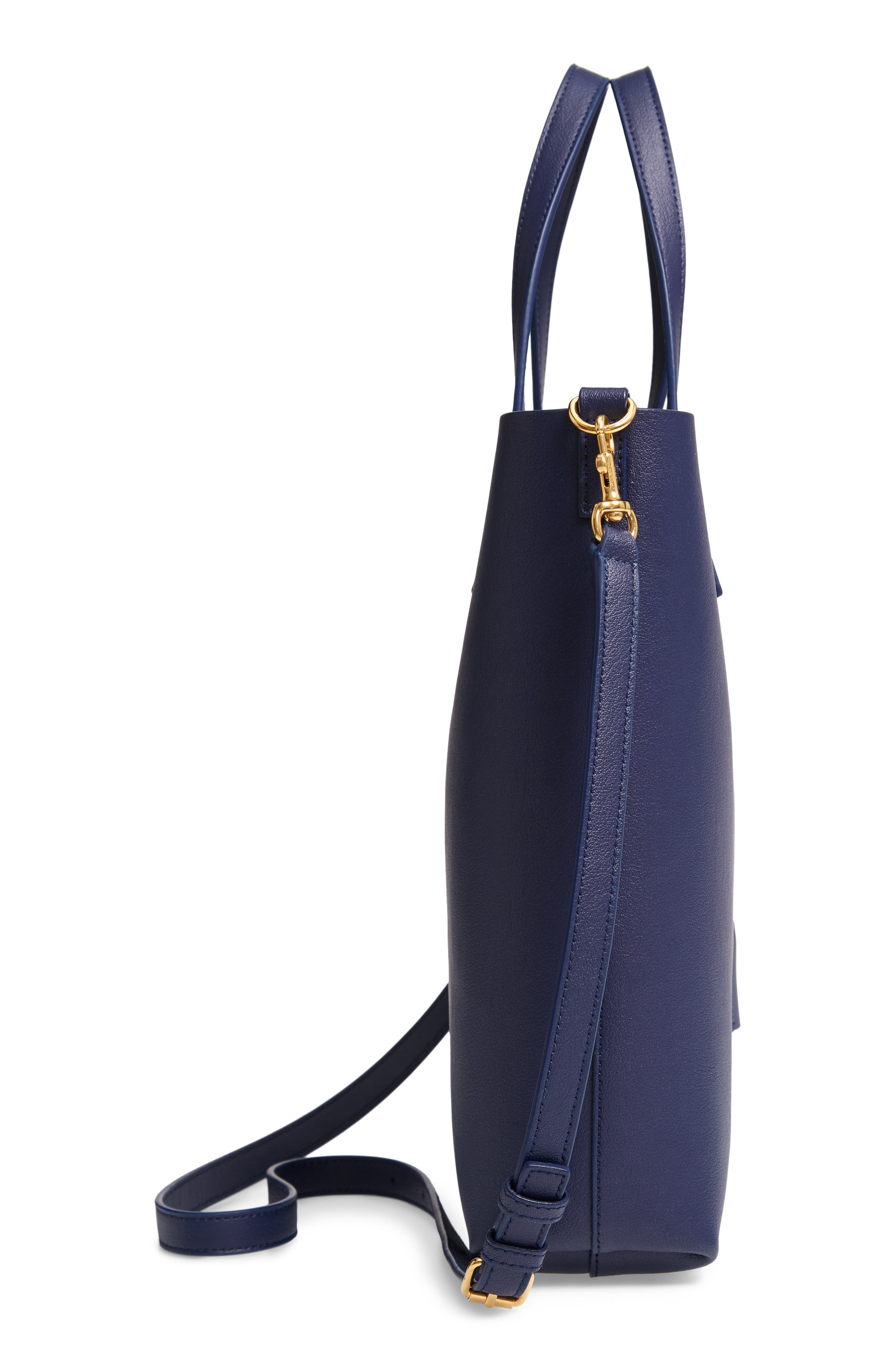 Toy Shopping Leather Tote,                             Alternate thumbnail 5, color,                             SAPPHIRE