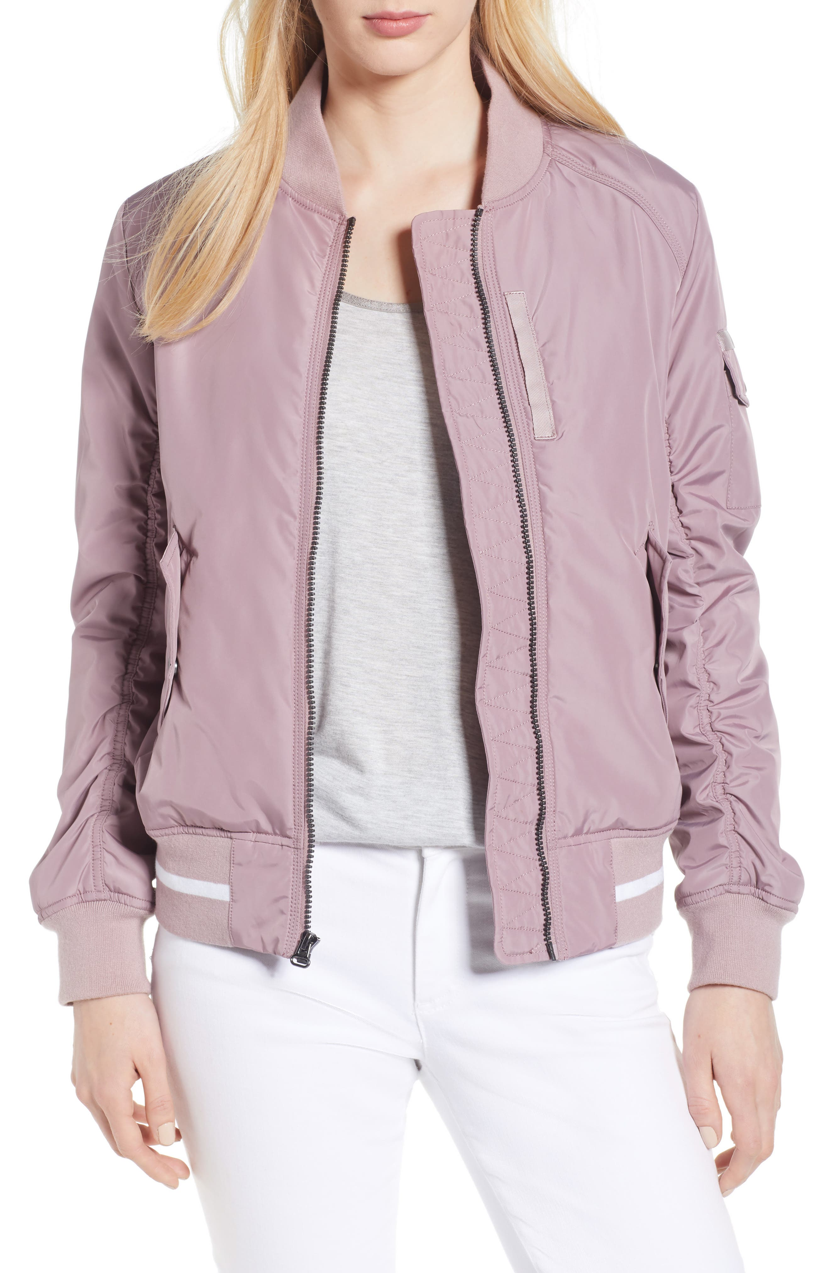 Foster Nylon Twill Bomber Jacket,                             Main thumbnail 1, color,