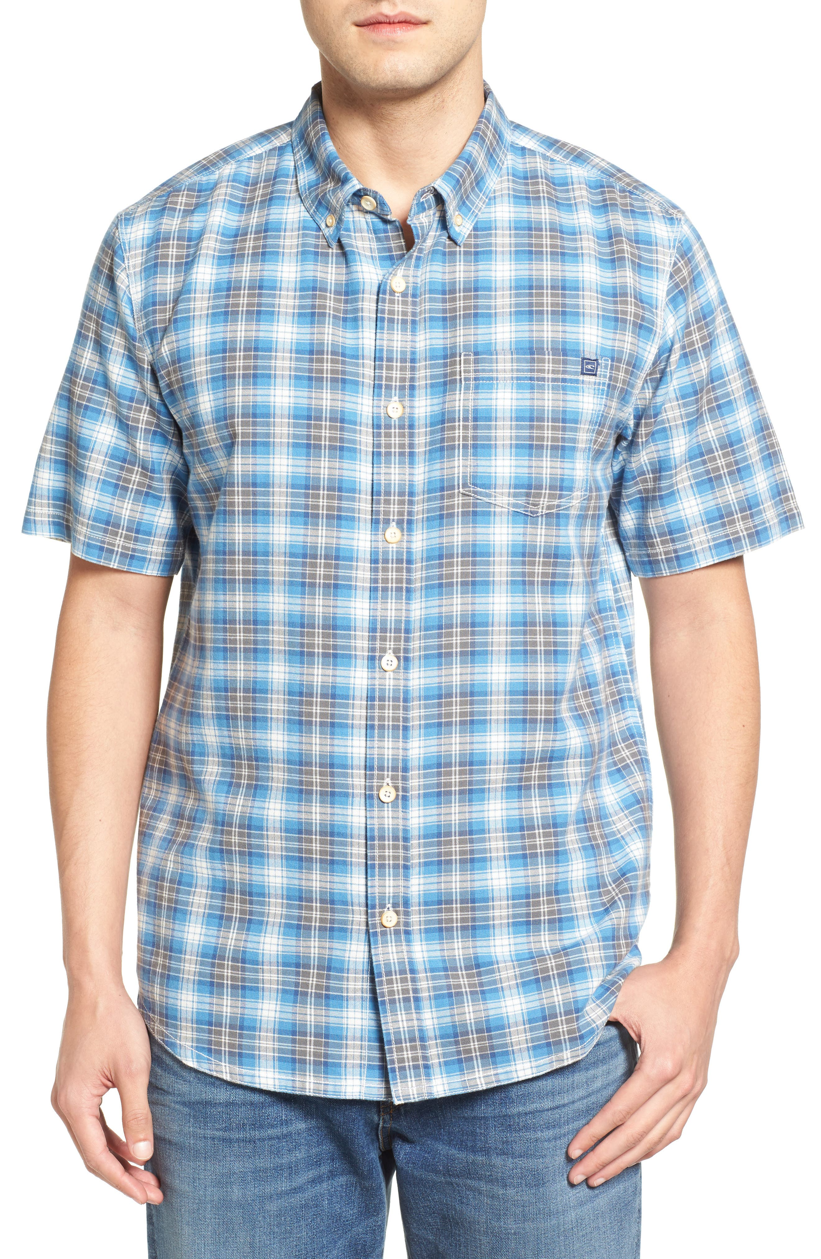 Voyager Plaid Sport Shirt,                             Main thumbnail 2, color,