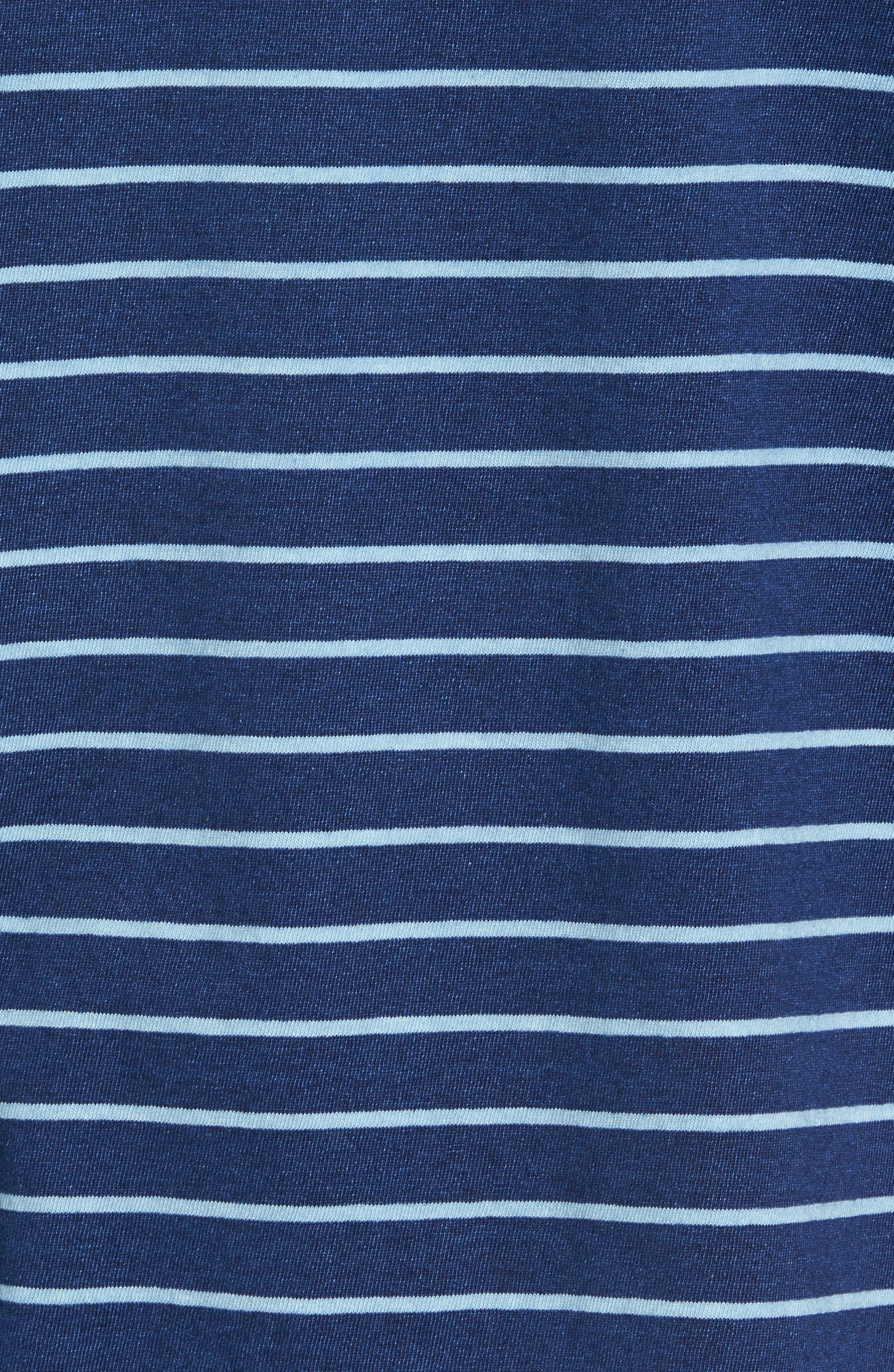 Sailor Stripe Jersey T-Shirt,                             Alternate thumbnail 5, color,                             104