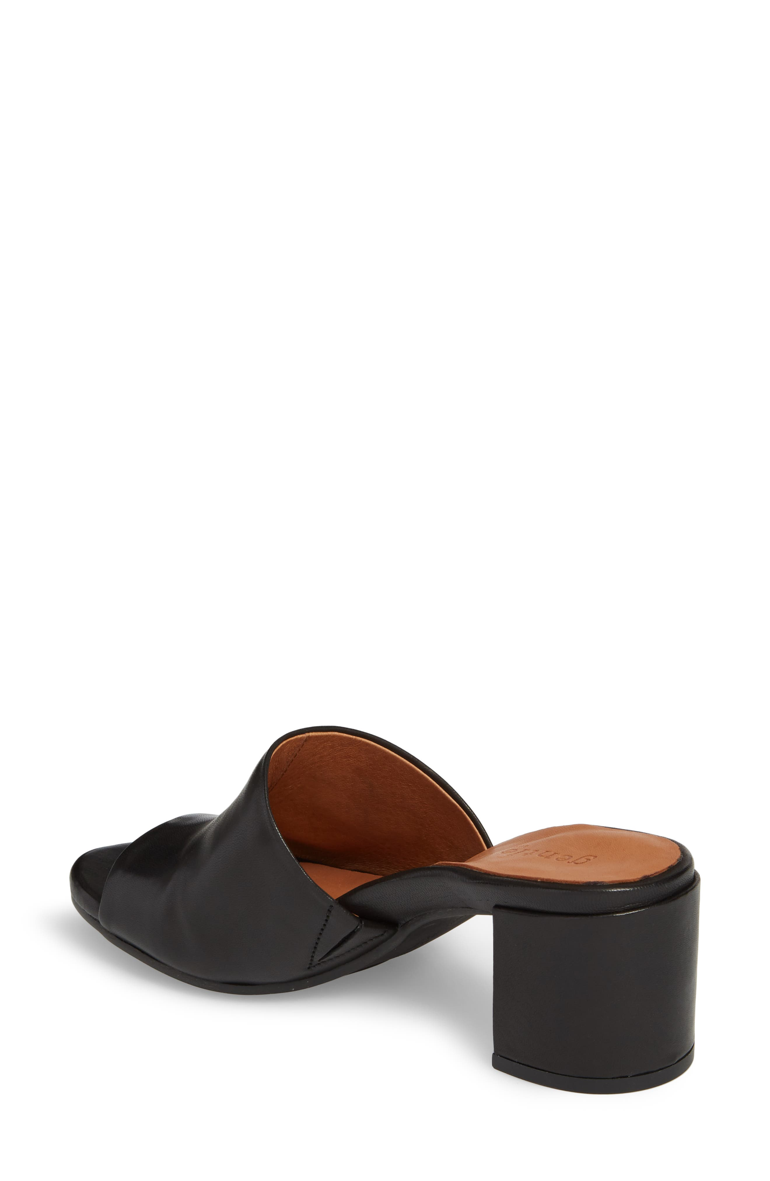 by Kenneth Cole Chantel Sandal,                             Alternate thumbnail 2, color,                             BLACK LEATHER
