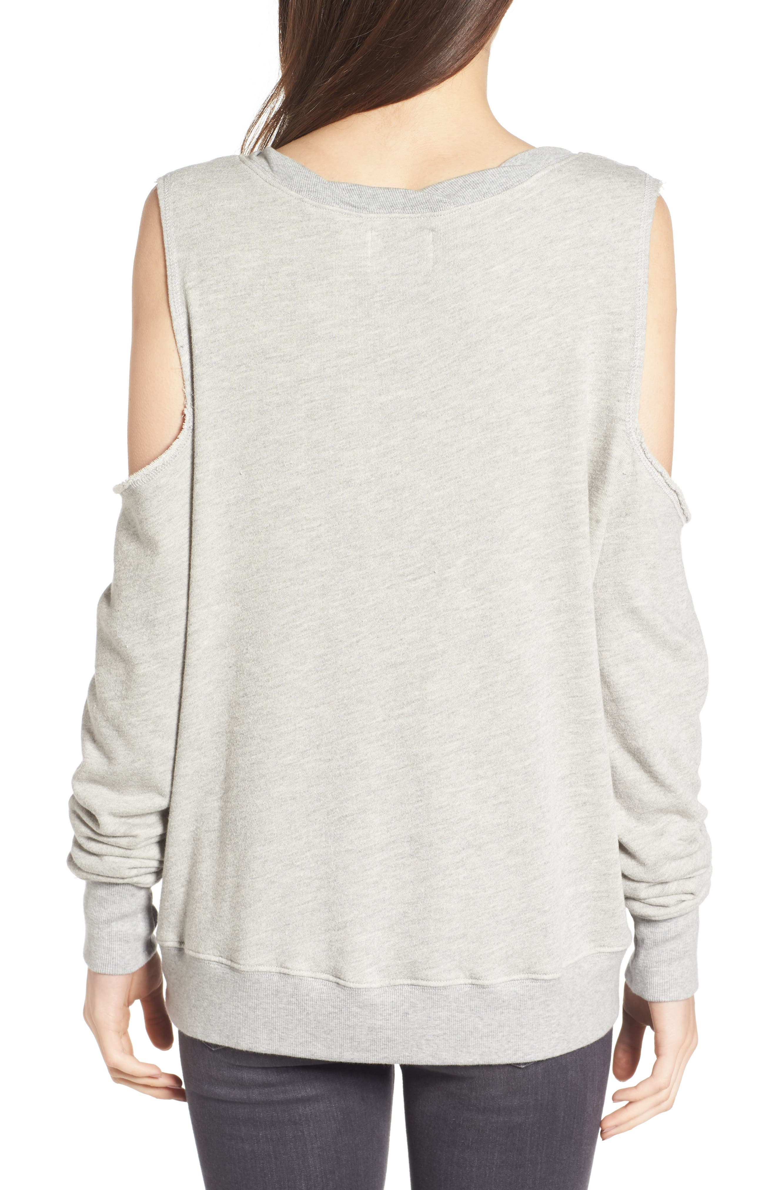 Cold Shoulder Sweatshirt,                             Alternate thumbnail 2, color,                             031