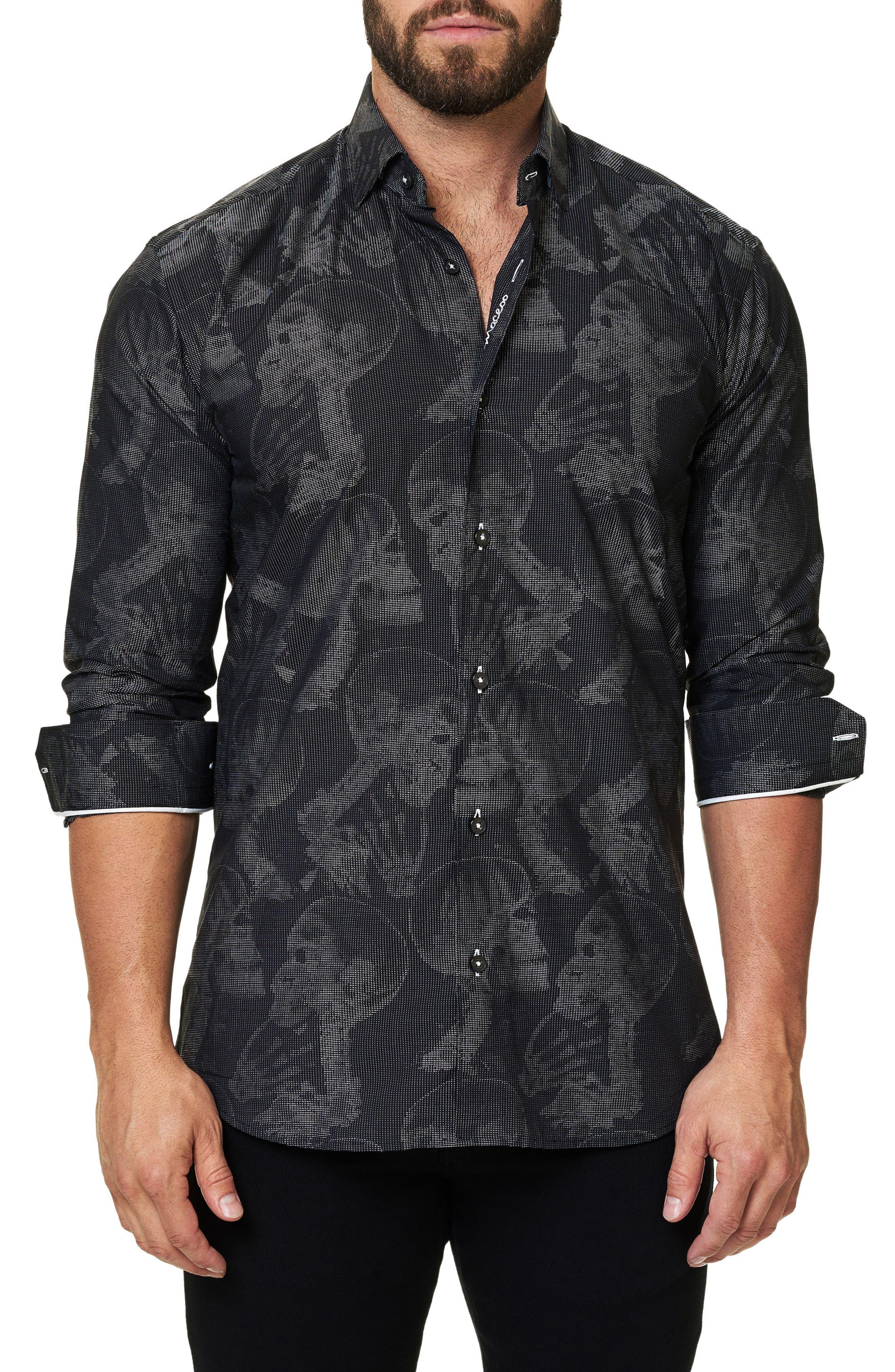 Trim Fit Print Sport Shirt,                         Main,                         color, 002