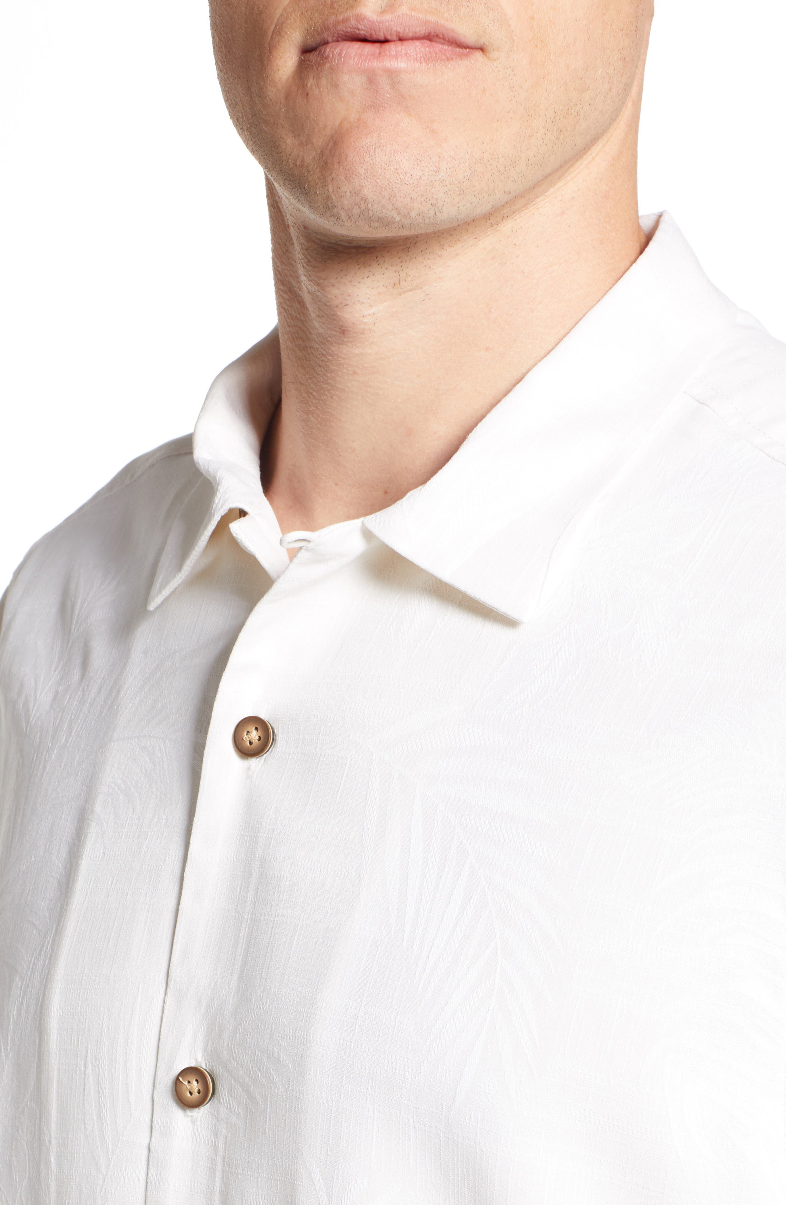 TOMMY BAHAMA,                             Tailgate Club Embroidered Silk Camp Shirt,                             Alternate thumbnail 4, color,                             100