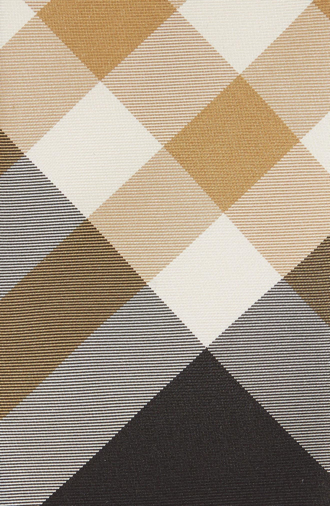 Manston Check Silk Blend Tie,                             Alternate thumbnail 2, color,                             BLACK