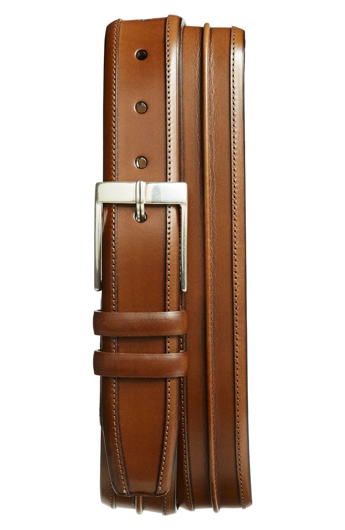 'Parma' Leather Belt,                         Main,                         color, 235