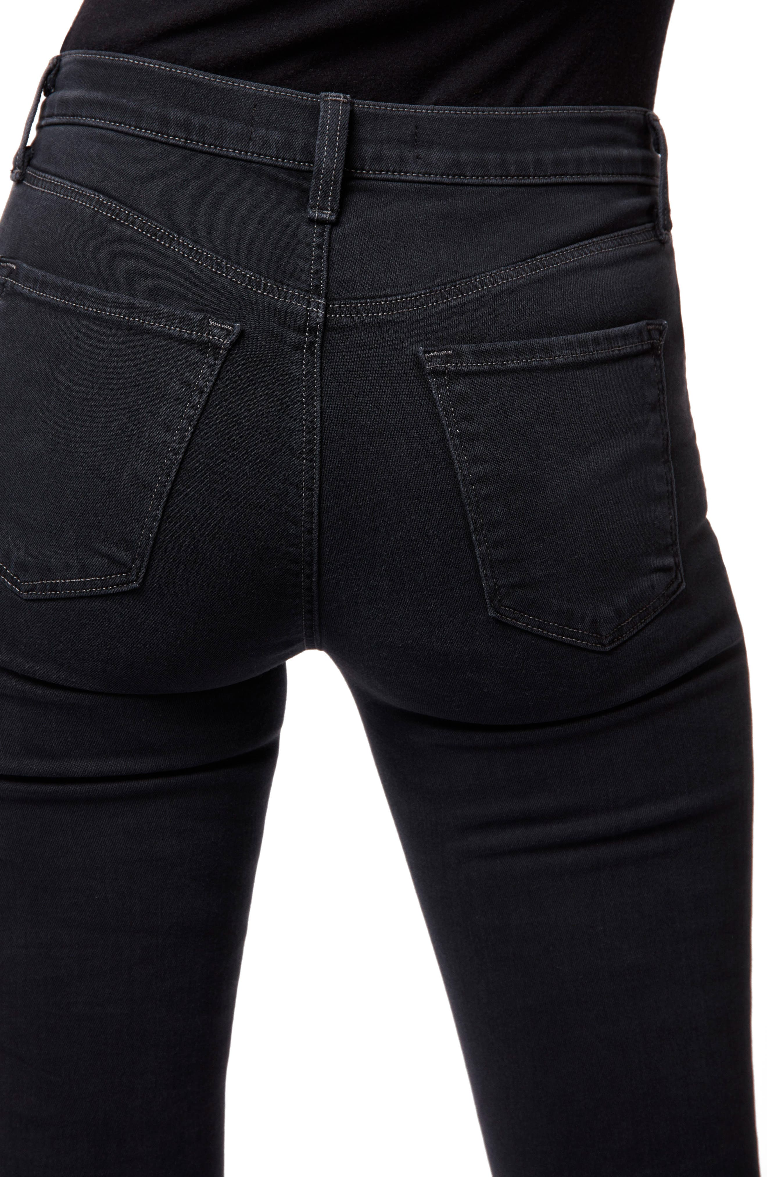 Maria High Waist Skinny Jeans,                             Alternate thumbnail 4, color,                             002