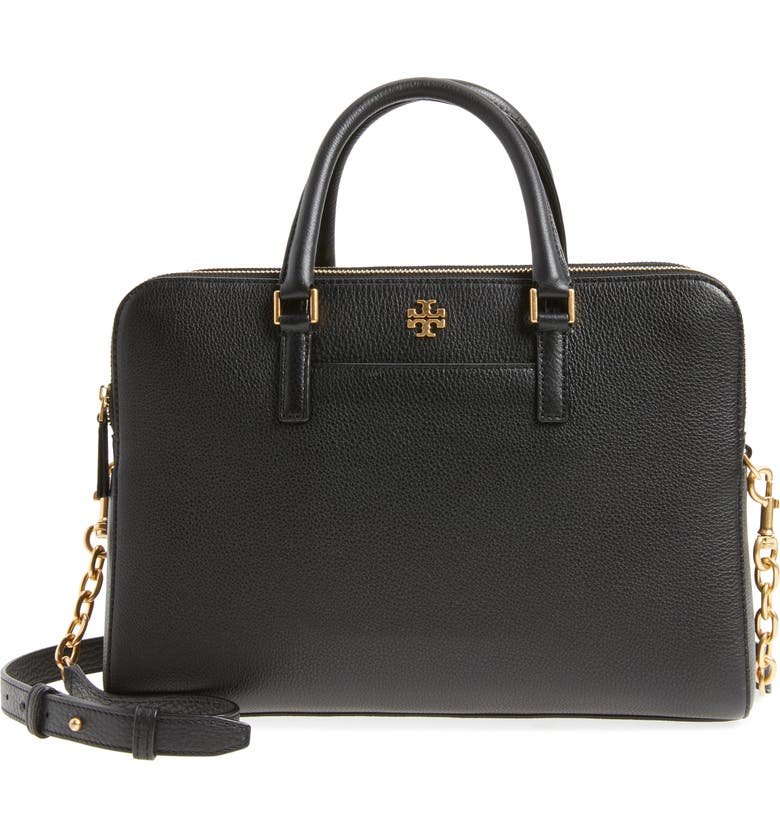 66bcd94b9562 Tory Burch Geia Double Zip Pebbled Leather Satchel Nordstrom. Tory Burch  Clutches Parker Double Zip Mini Bag